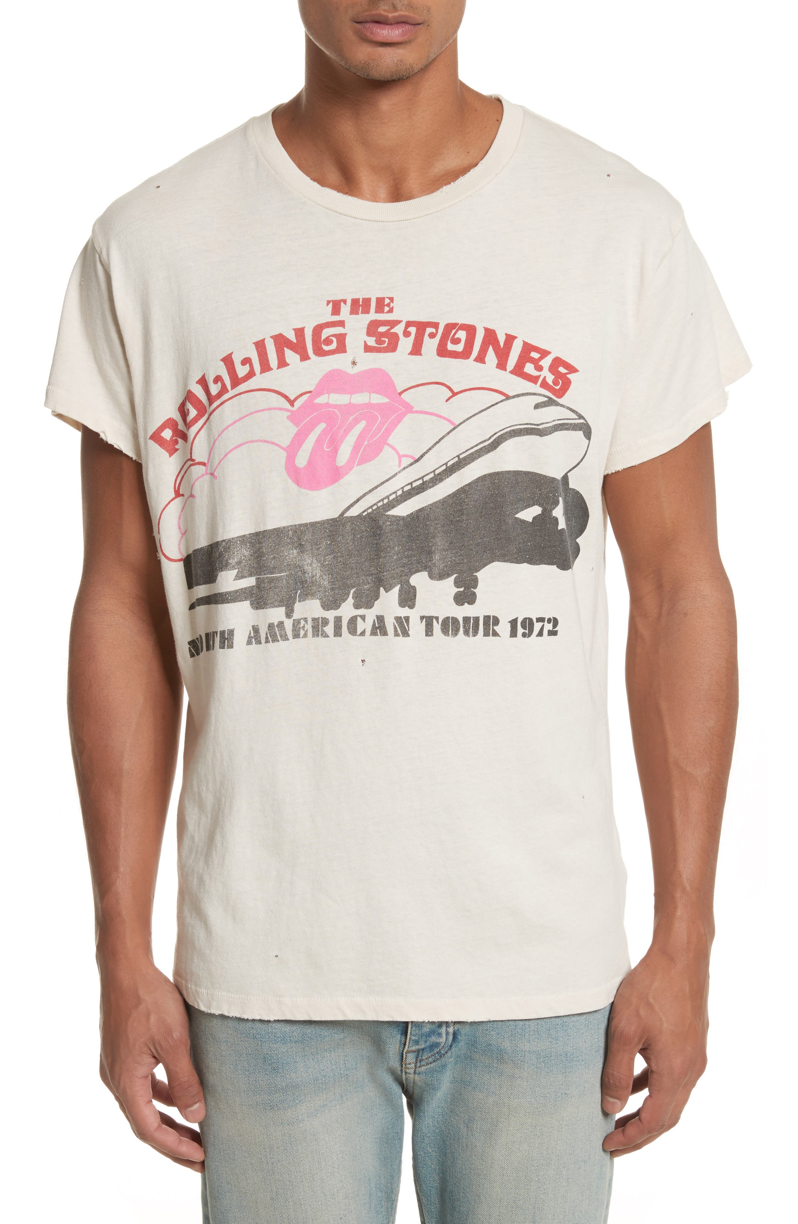 The Rolling Stones North American Tour 1972 Graphic T-Shirt,                             Main thumbnail 1, color,                             100