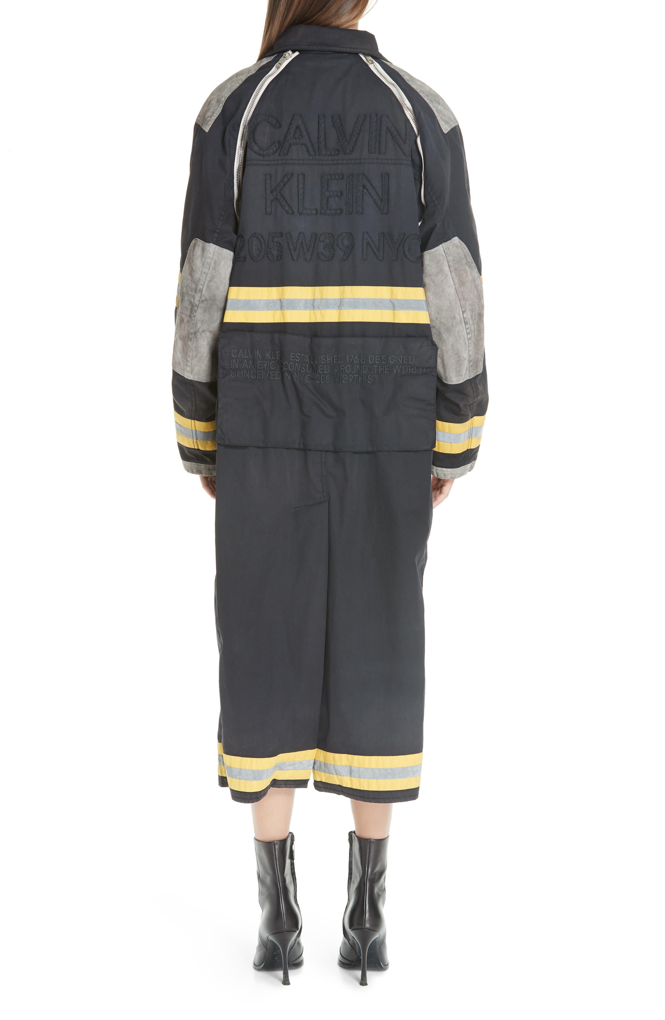 Fireman Coat,                             Alternate thumbnail 2, color,                             BLACK