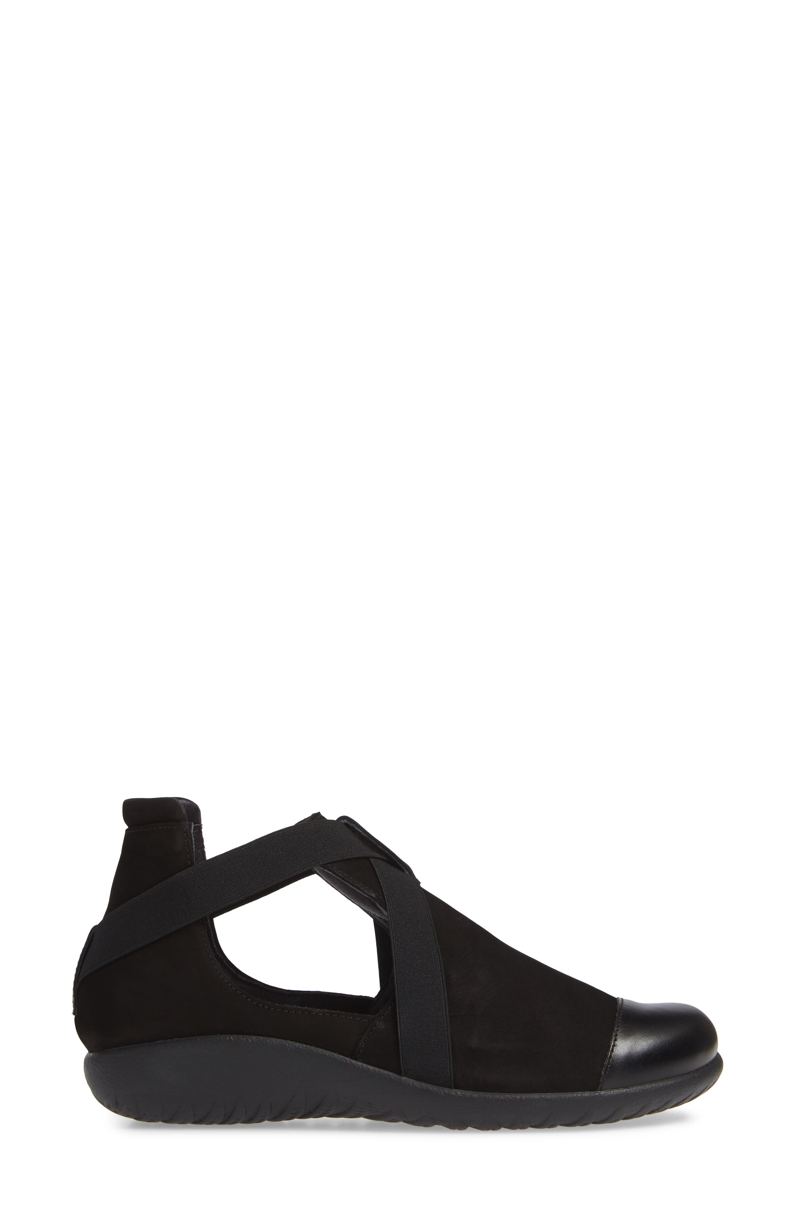 Rakua Slip On Sneaker,                             Alternate thumbnail 3, color,                             BLACK NUBUCK