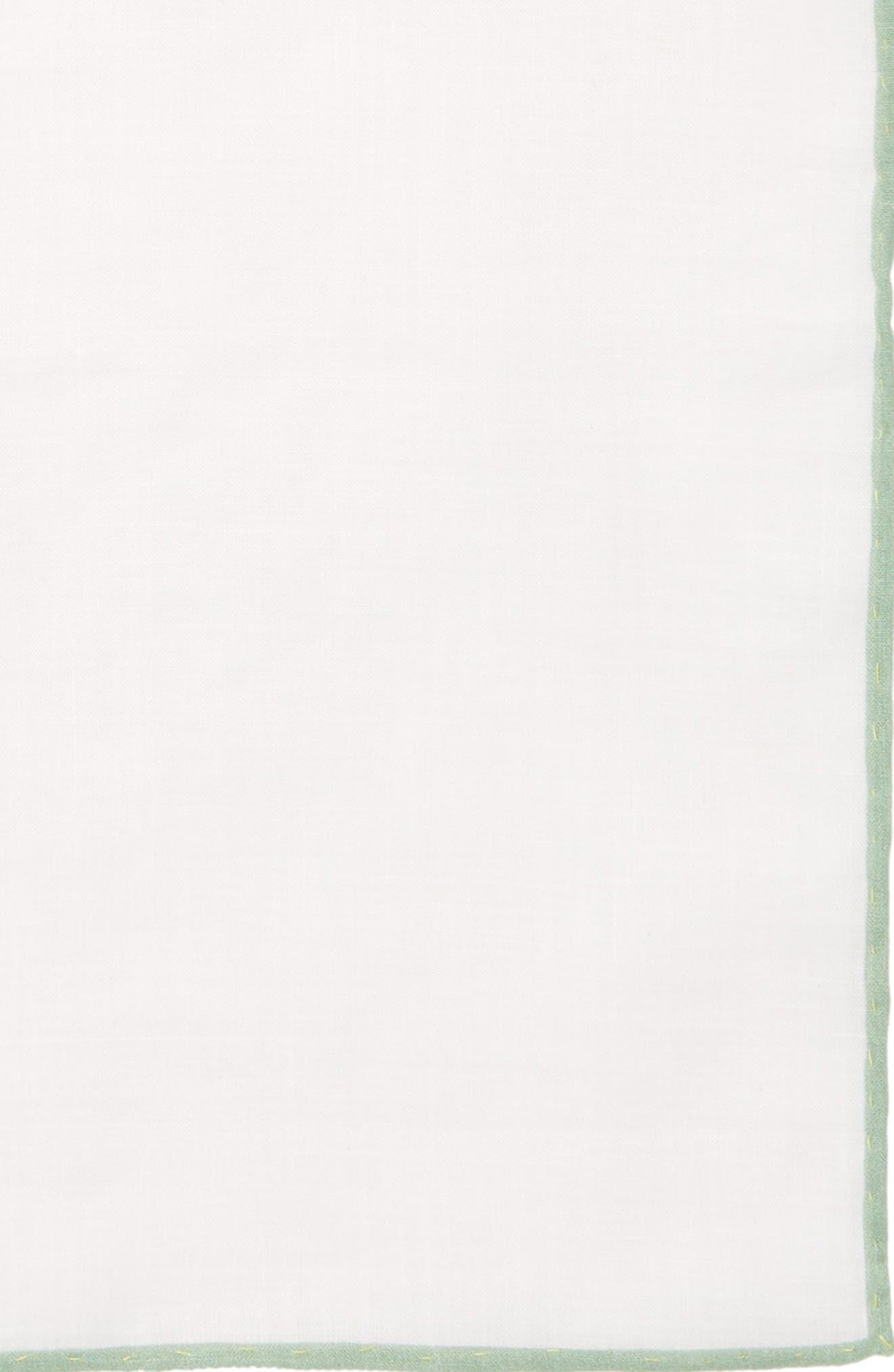 Solid Linen Pocket Square,                             Alternate thumbnail 3, color,                             157