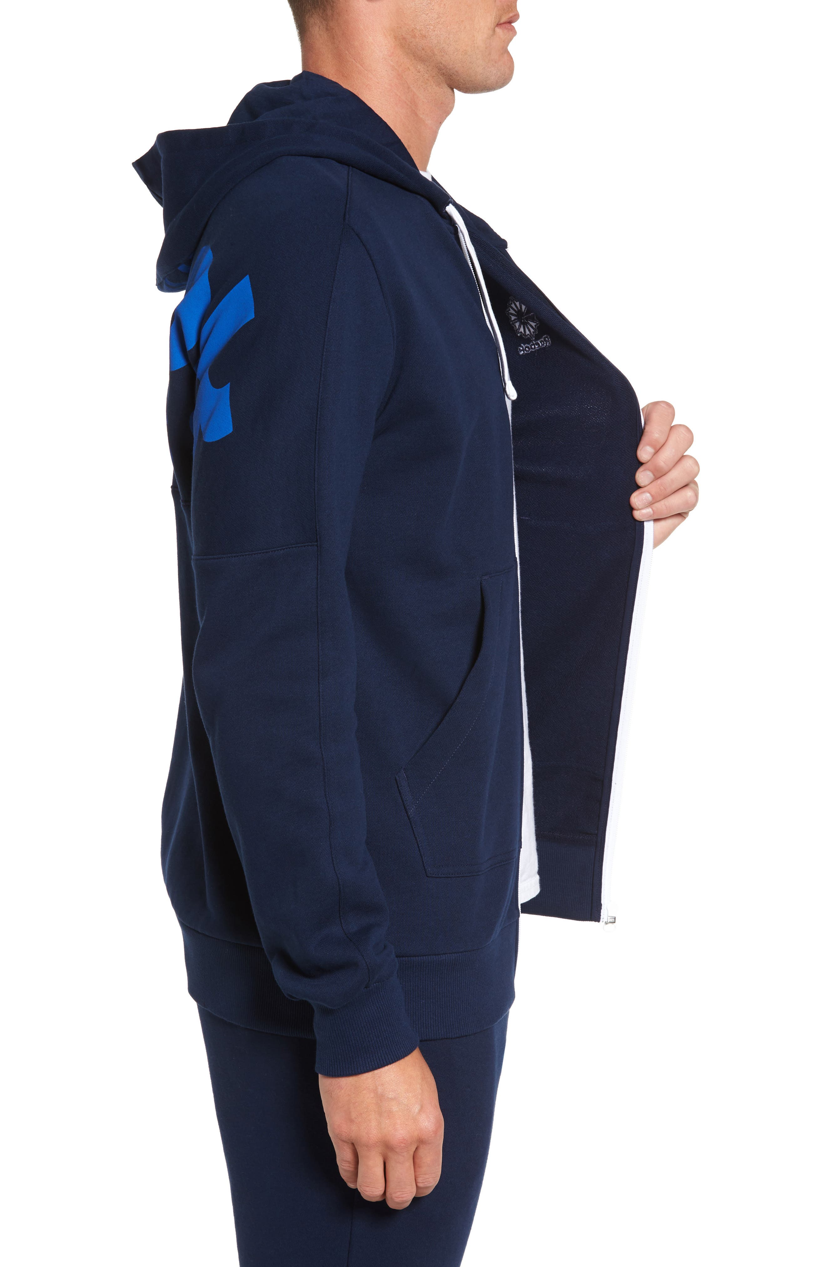 Classic Graphic Zip Hoodie,                             Alternate thumbnail 6, color,