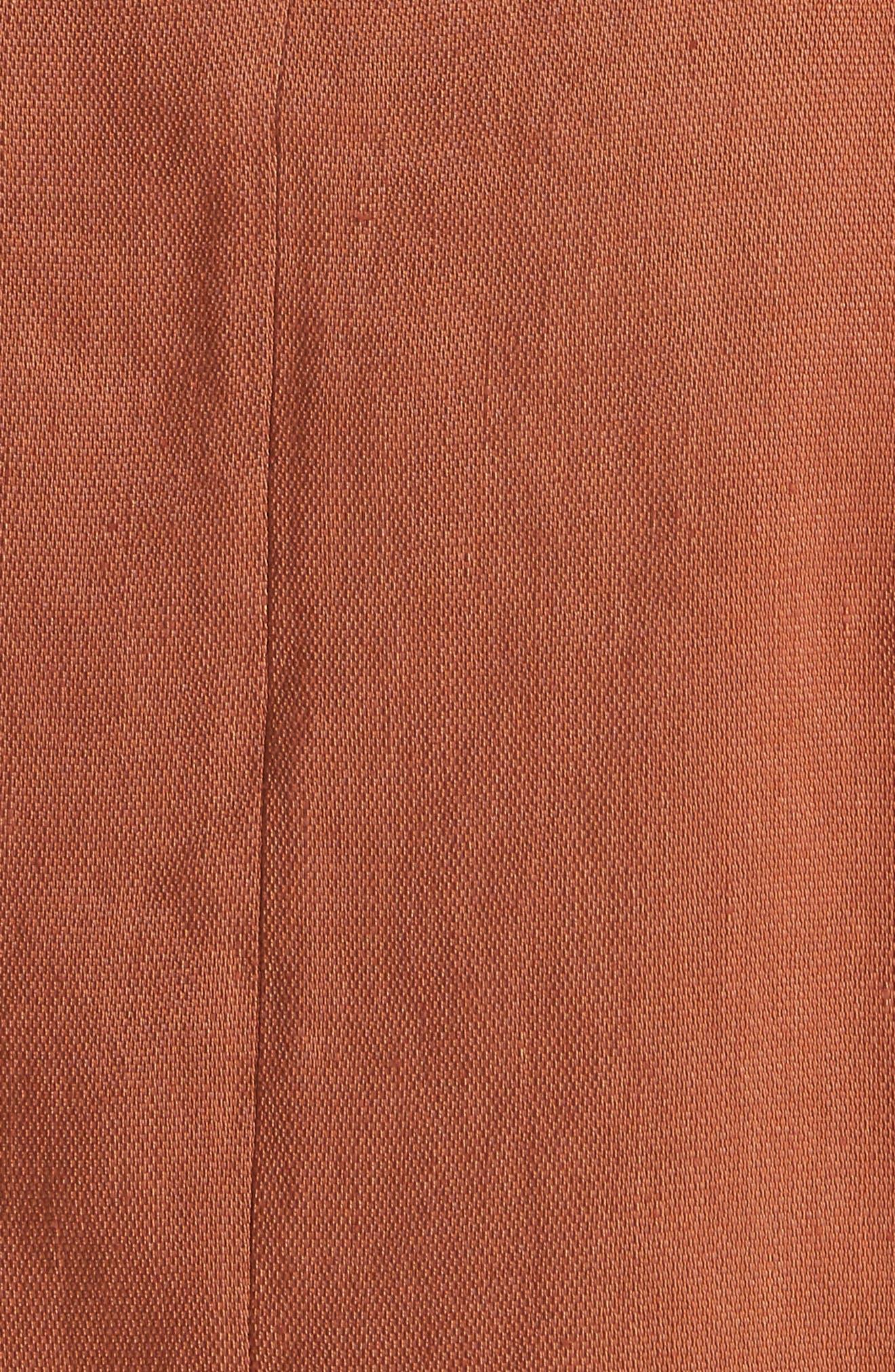 Claudia Linen Blend Midi Dress,                             Alternate thumbnail 5, color,                             821