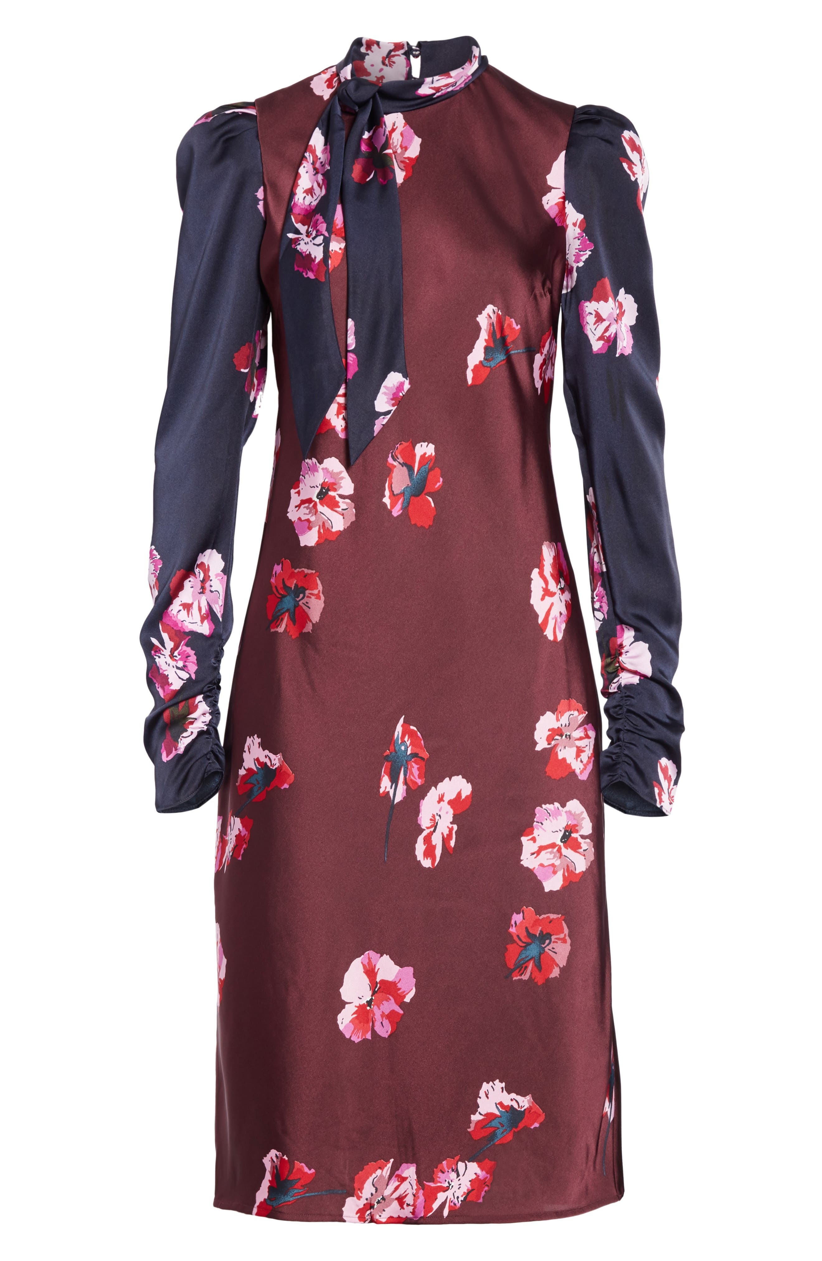 Kyan Sheath Dress,                             Alternate thumbnail 7, color,                             MIDNIGHT-BLACKB