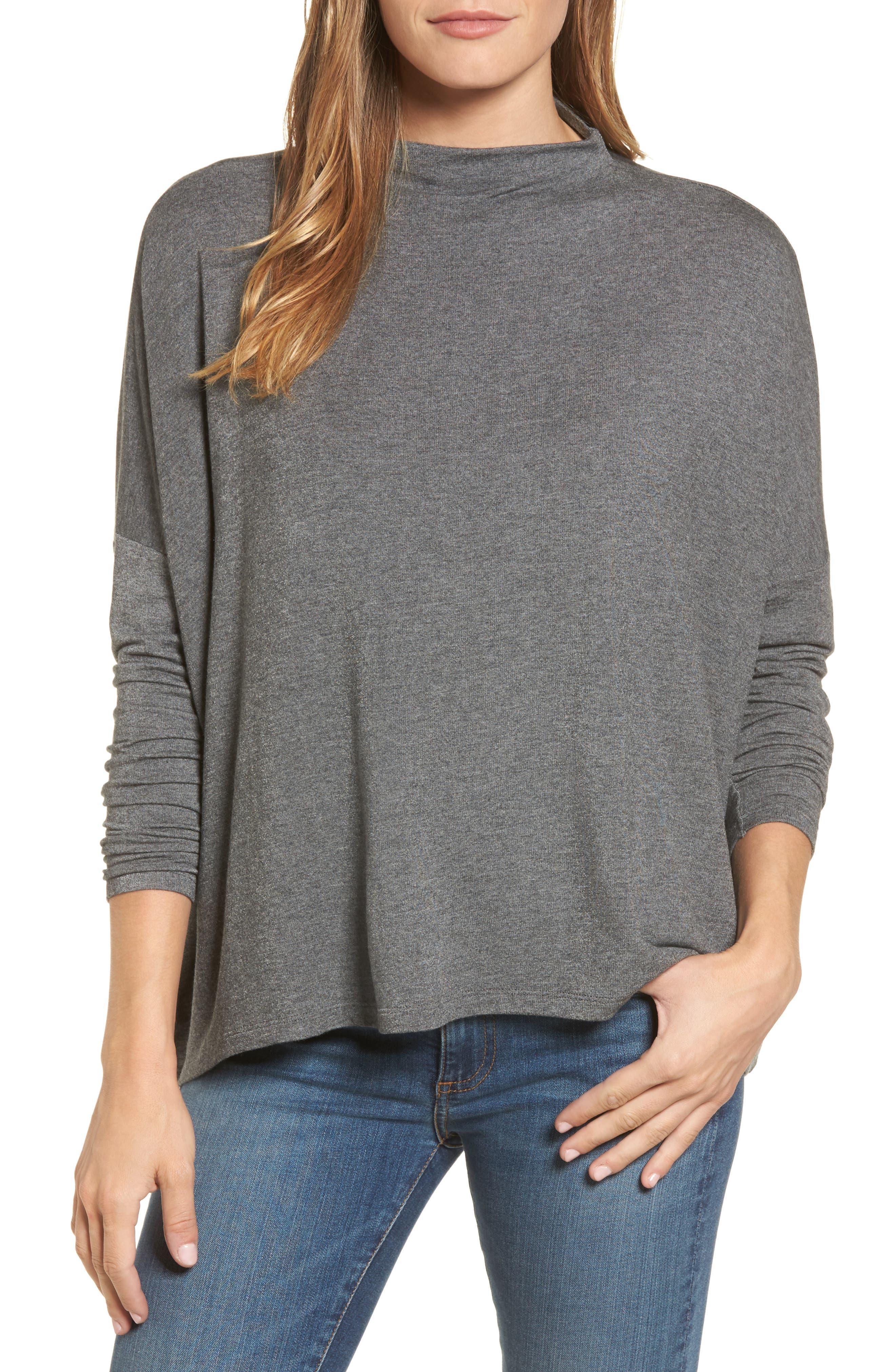High Neck Sweatshirt,                             Main thumbnail 2, color,