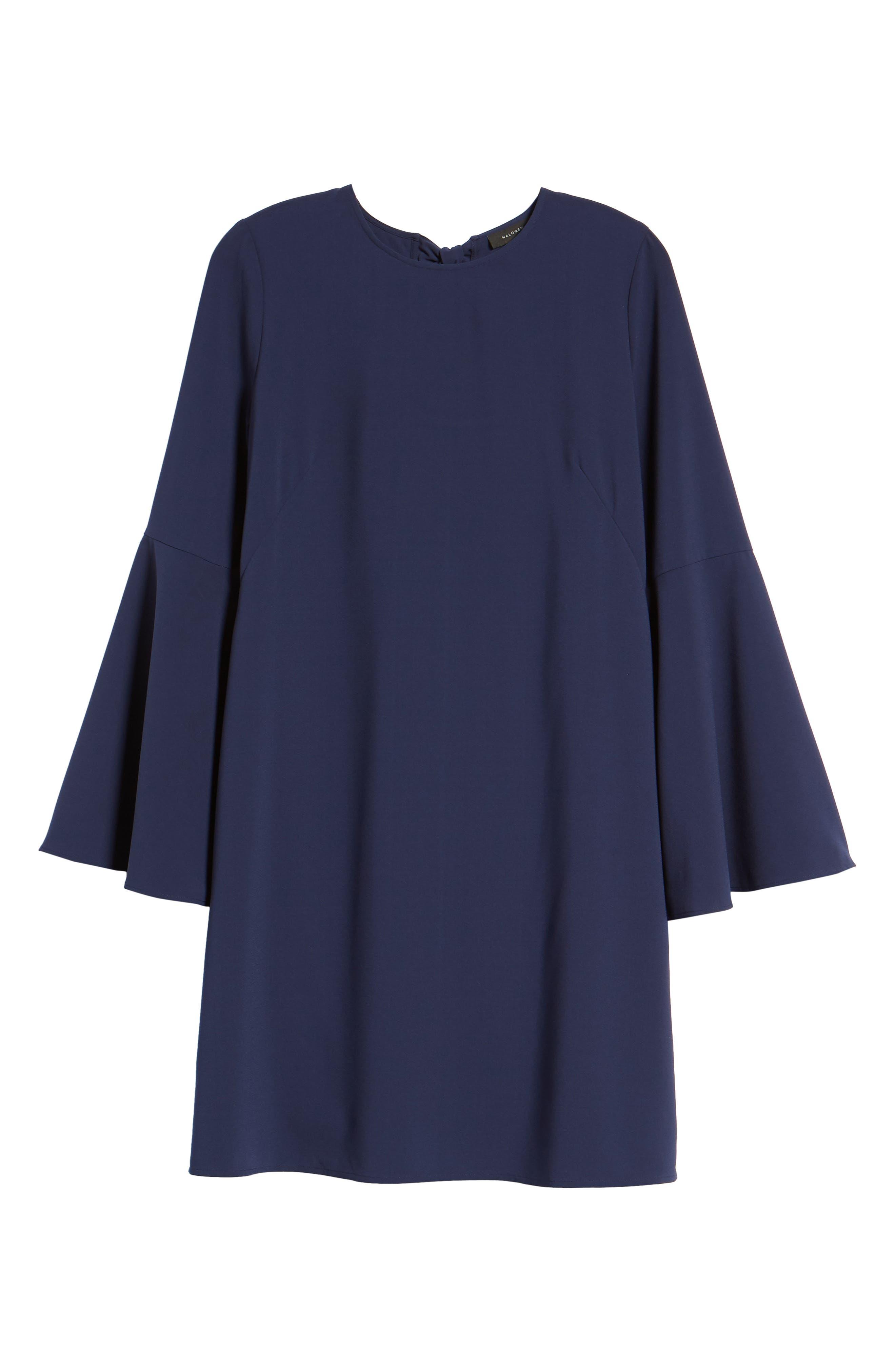 Bow Back Flare Sleeve Dress,                             Alternate thumbnail 7, color,                             410