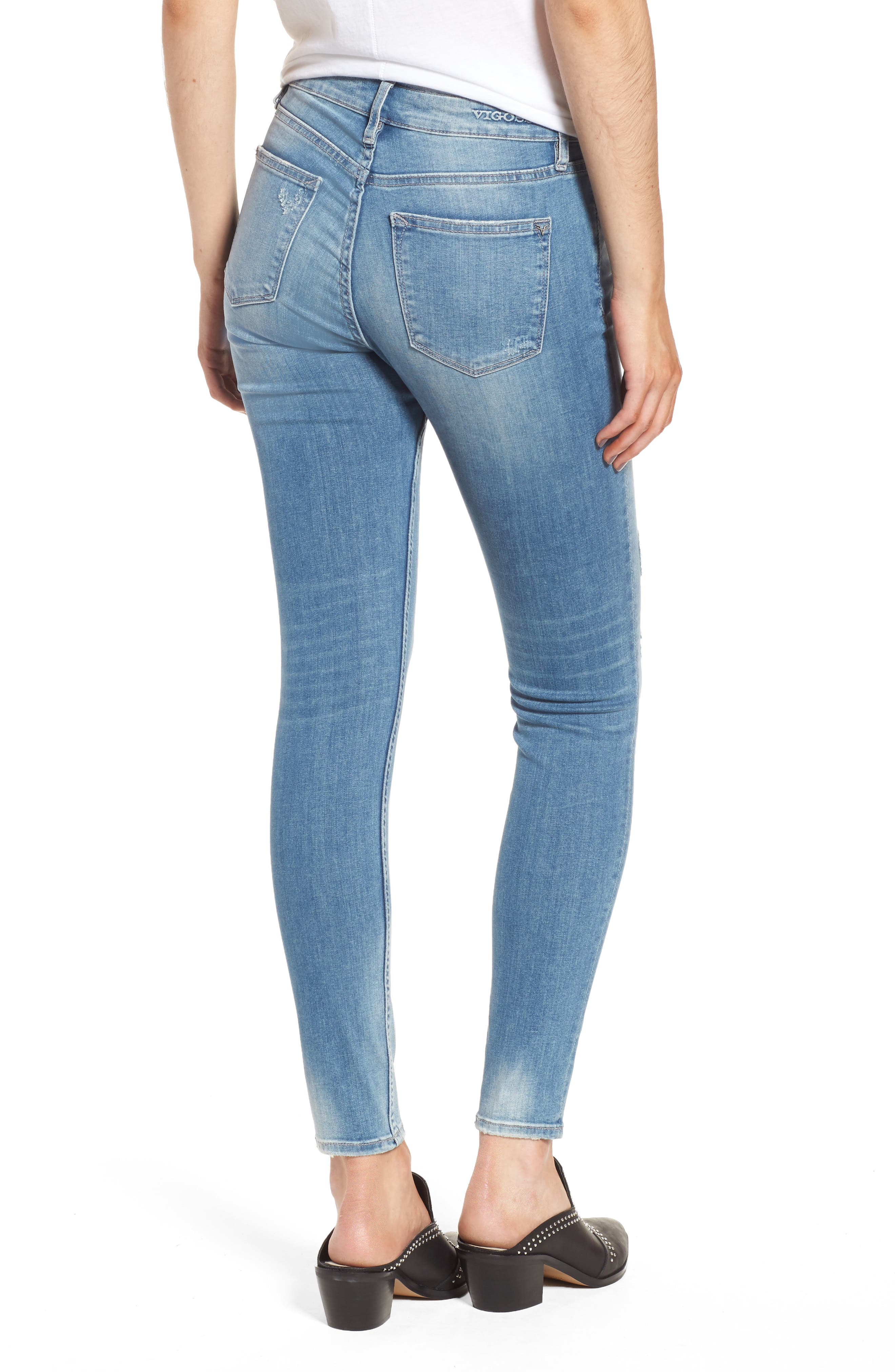 Marley Ripped Skinny Jeans,                             Alternate thumbnail 2, color,