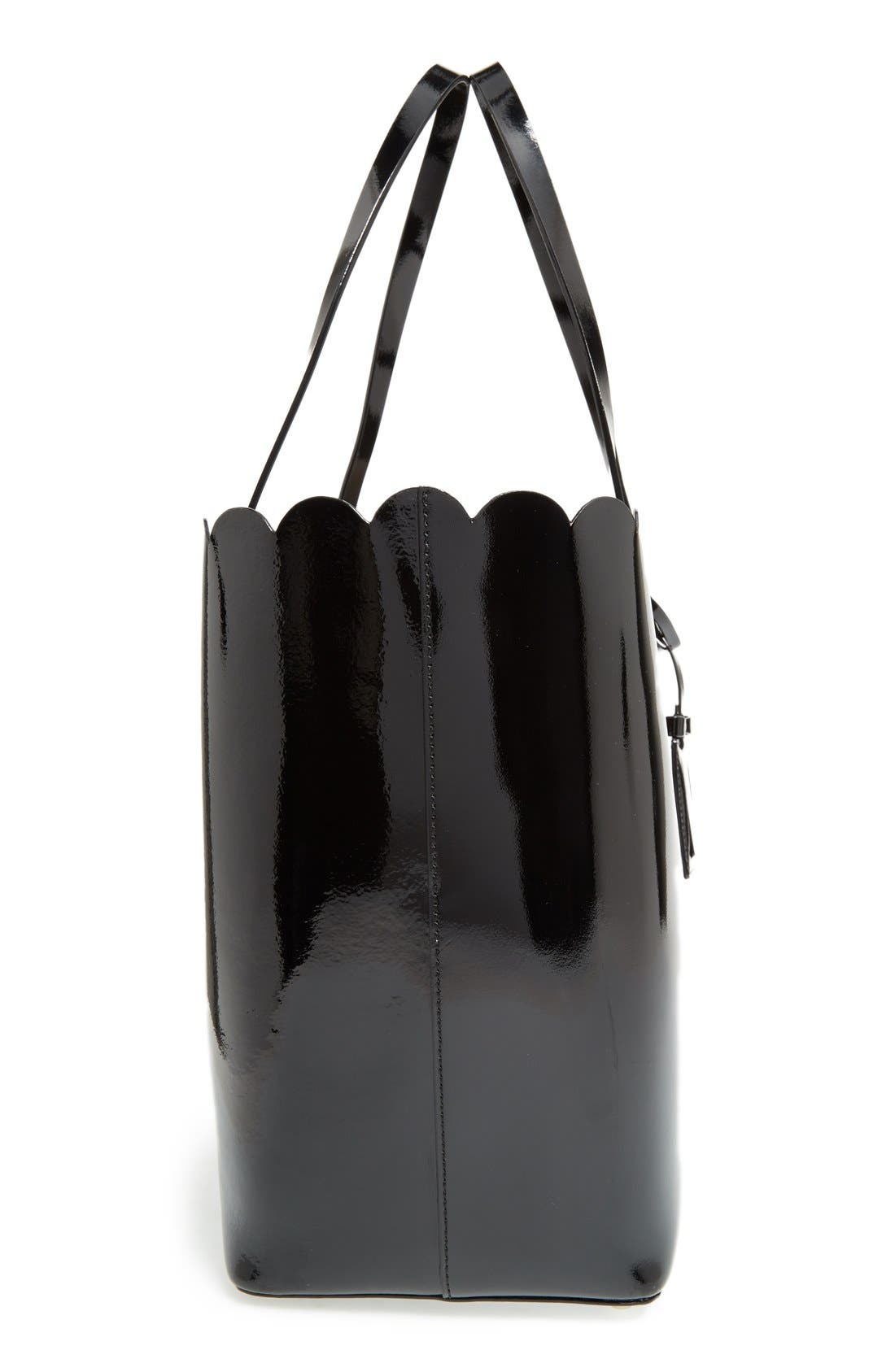 'lily avenue patent - carrigan' leather tote,                             Alternate thumbnail 6, color,                             005