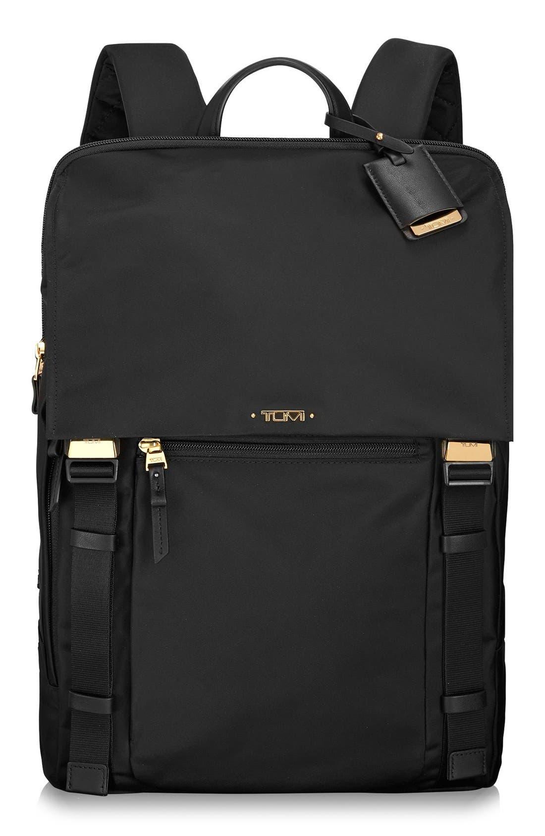 'Voyageur - Sacha' Flap Backpack,                             Main thumbnail 1, color,                             001