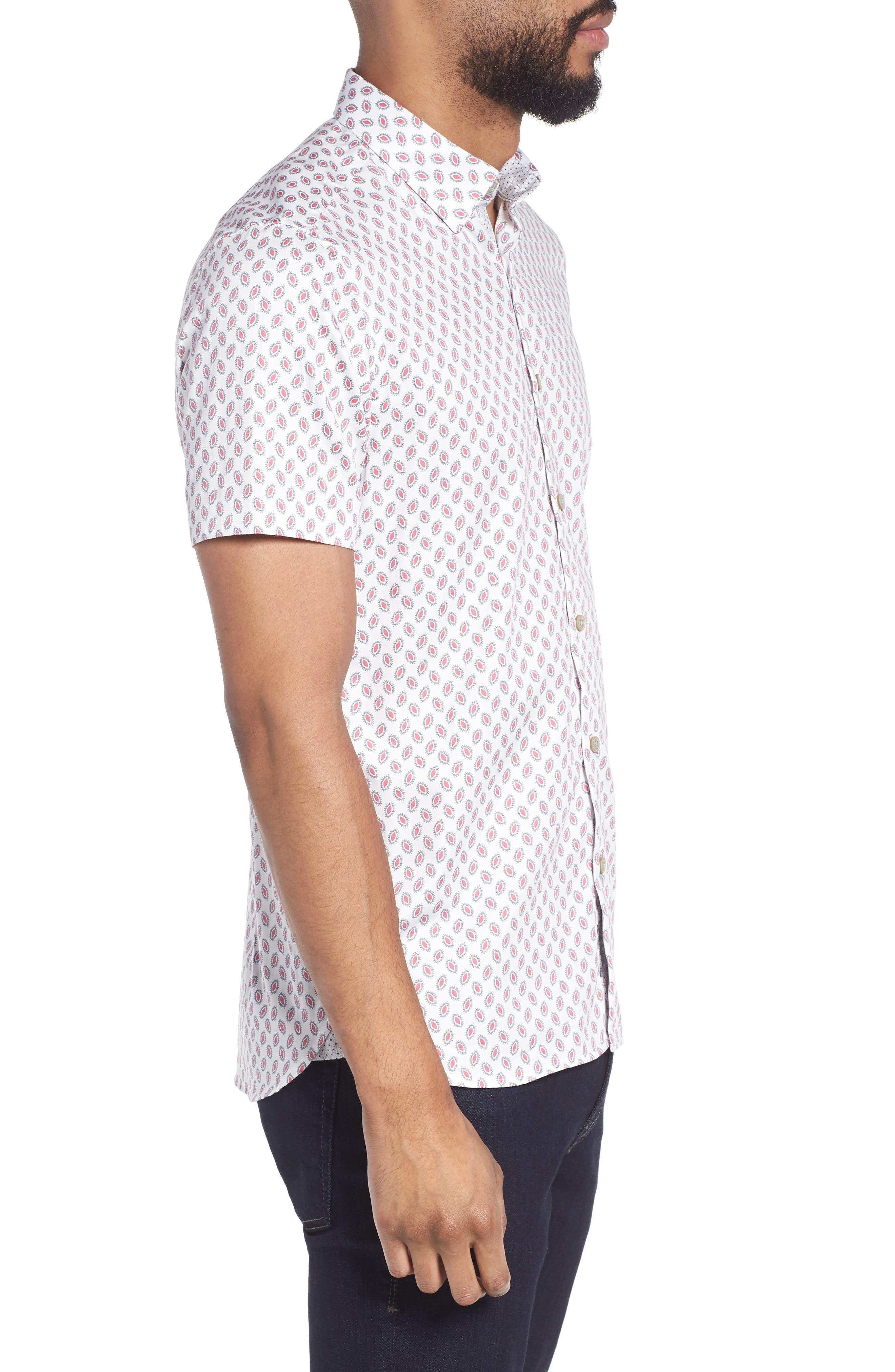 Newfone Trim Fit Chambray Sport Shirt,                             Alternate thumbnail 12, color,