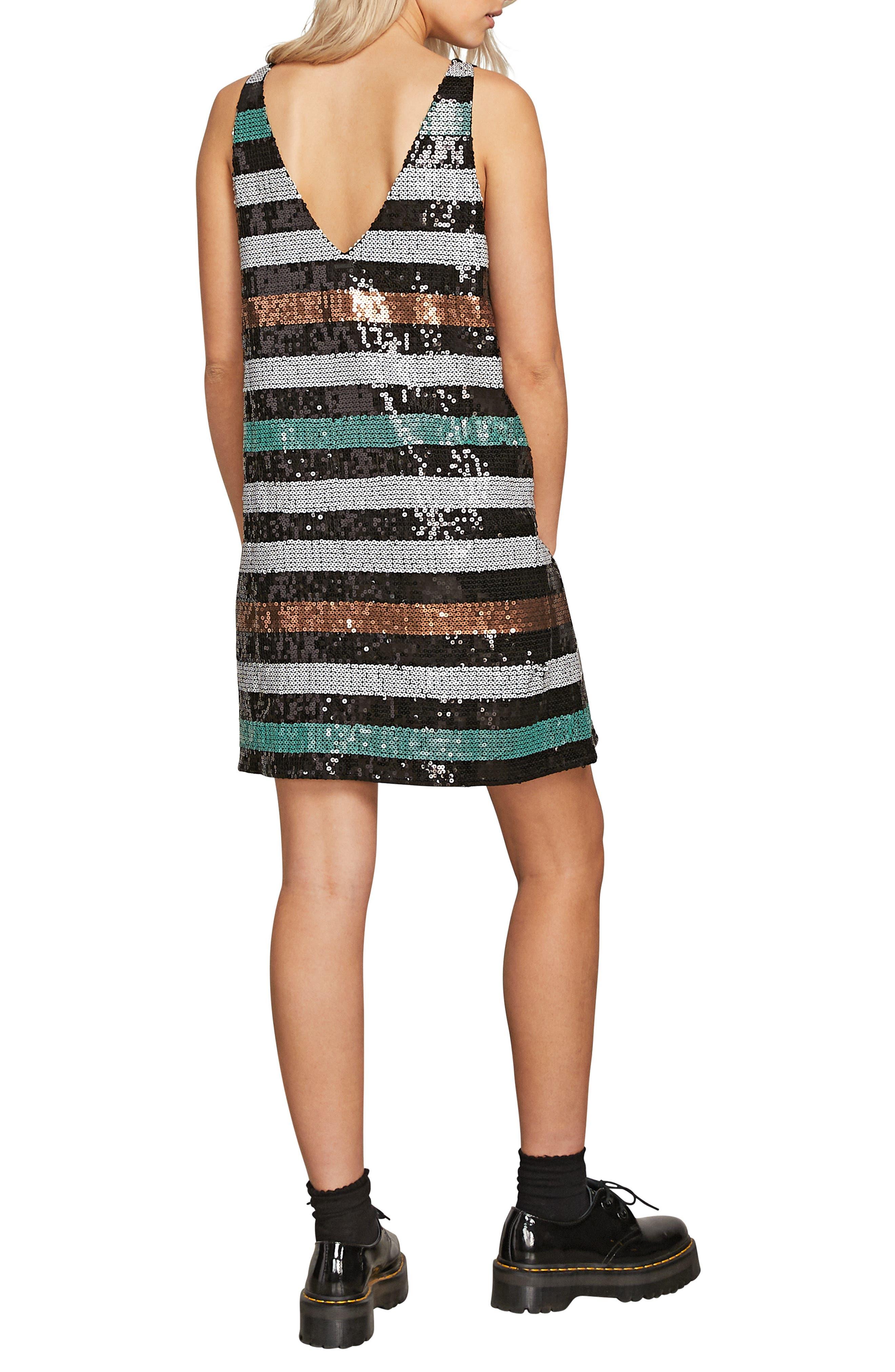 Seek Whence Sequin Stripe Dress,                             Alternate thumbnail 2, color,                             MULTI