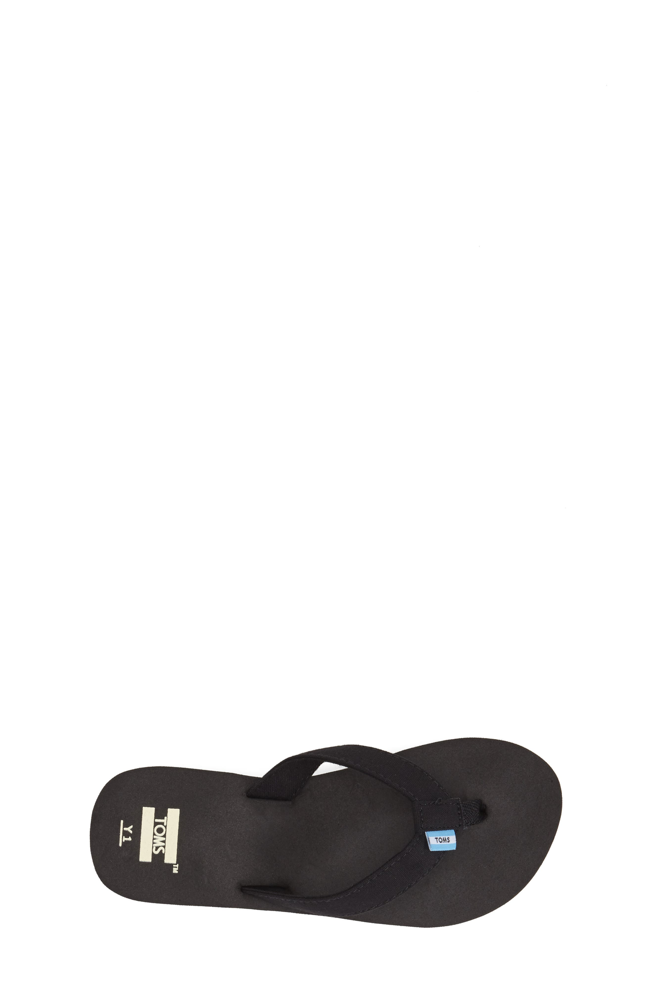 'Verano' Flip Flop,                             Alternate thumbnail 4, color,                             BLACK