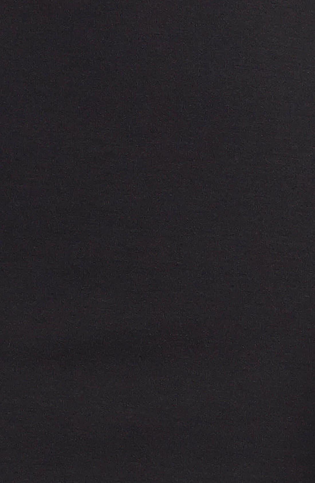 Faux Leather Trim Sheath Dress,                             Alternate thumbnail 2, color,                             001