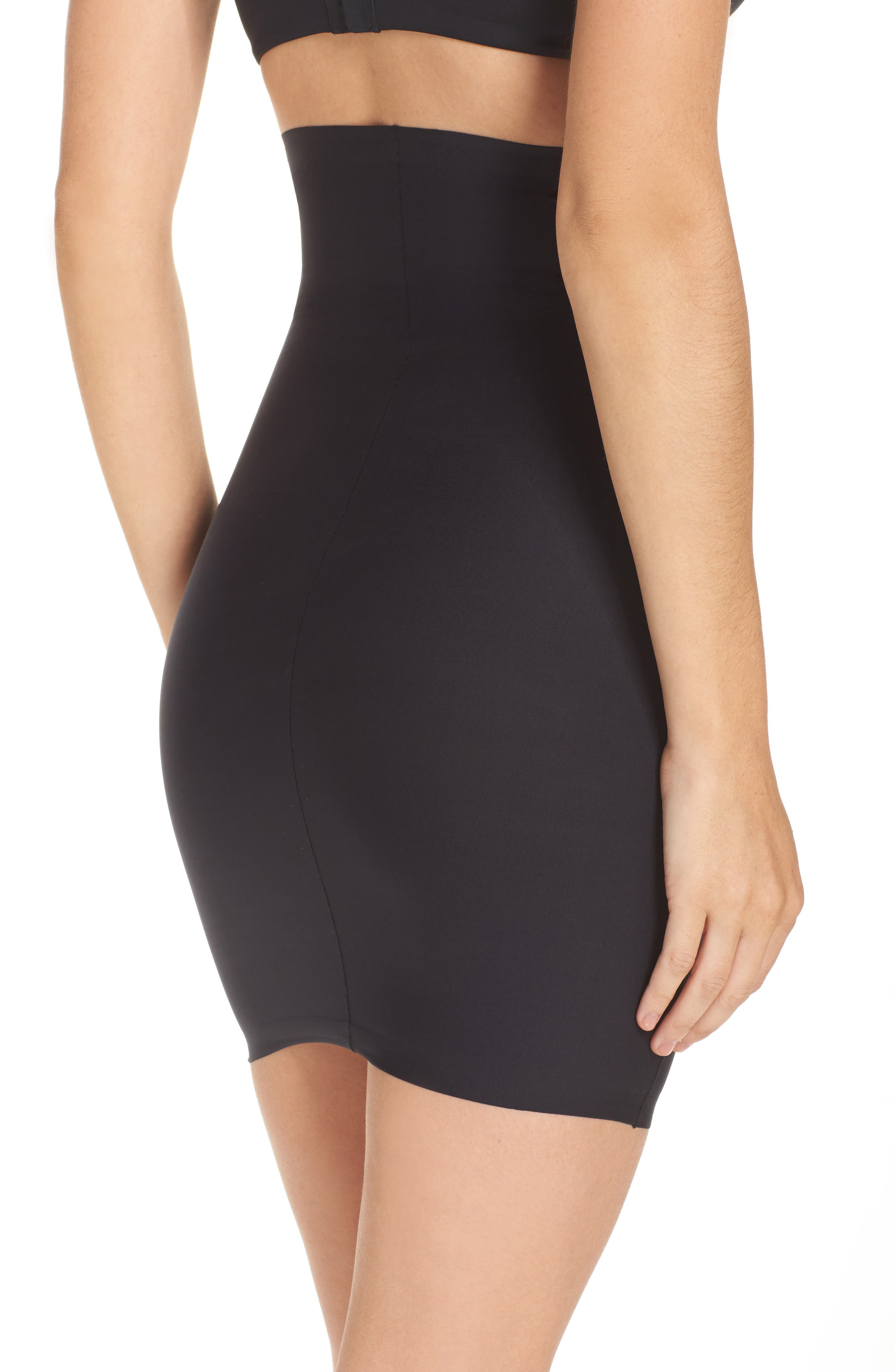 High Waist Smoother Skirt Slip,                             Alternate thumbnail 2, color,                             001