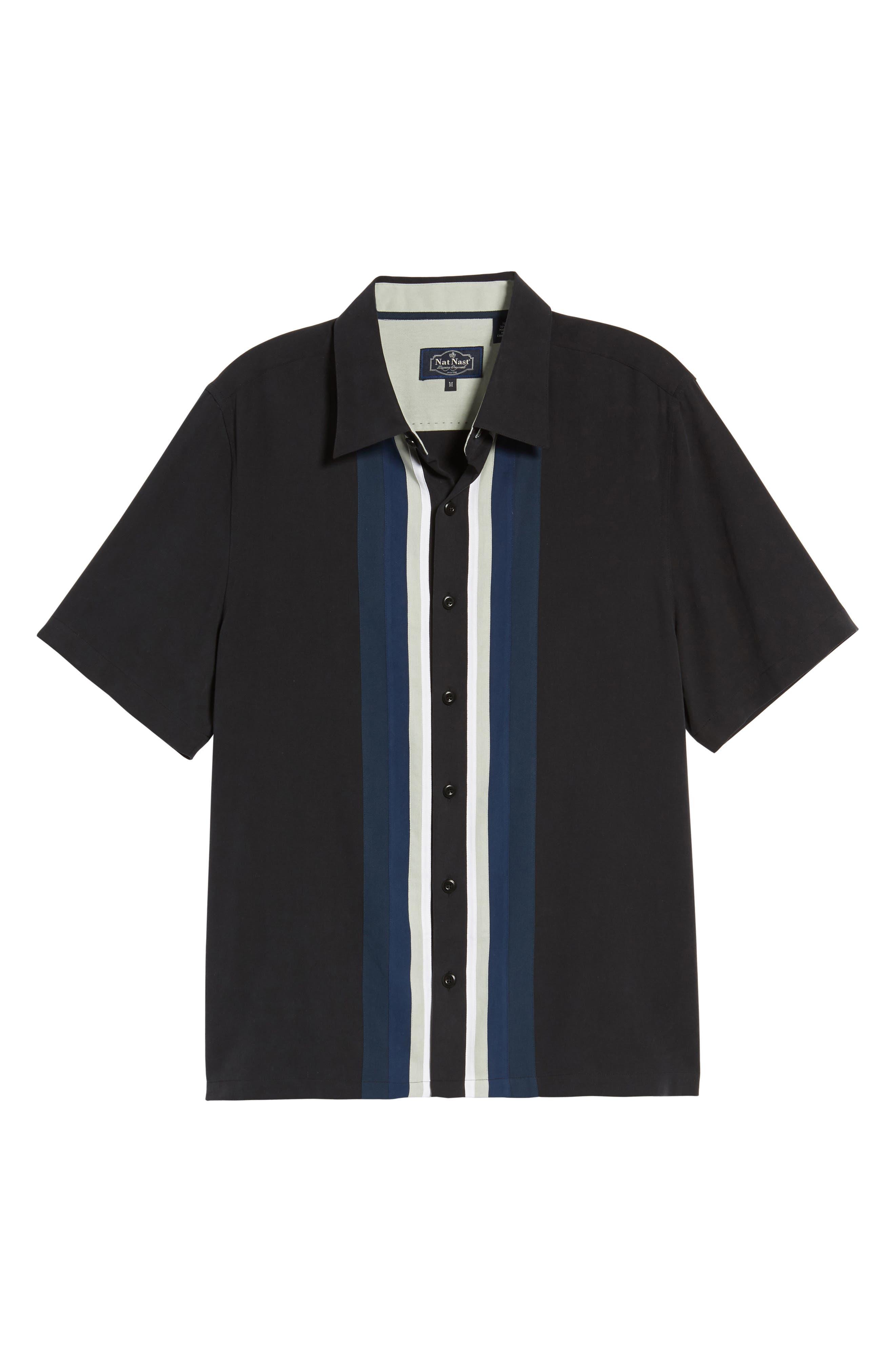 Line Drive Camp Shirt,                             Alternate thumbnail 6, color,                             001