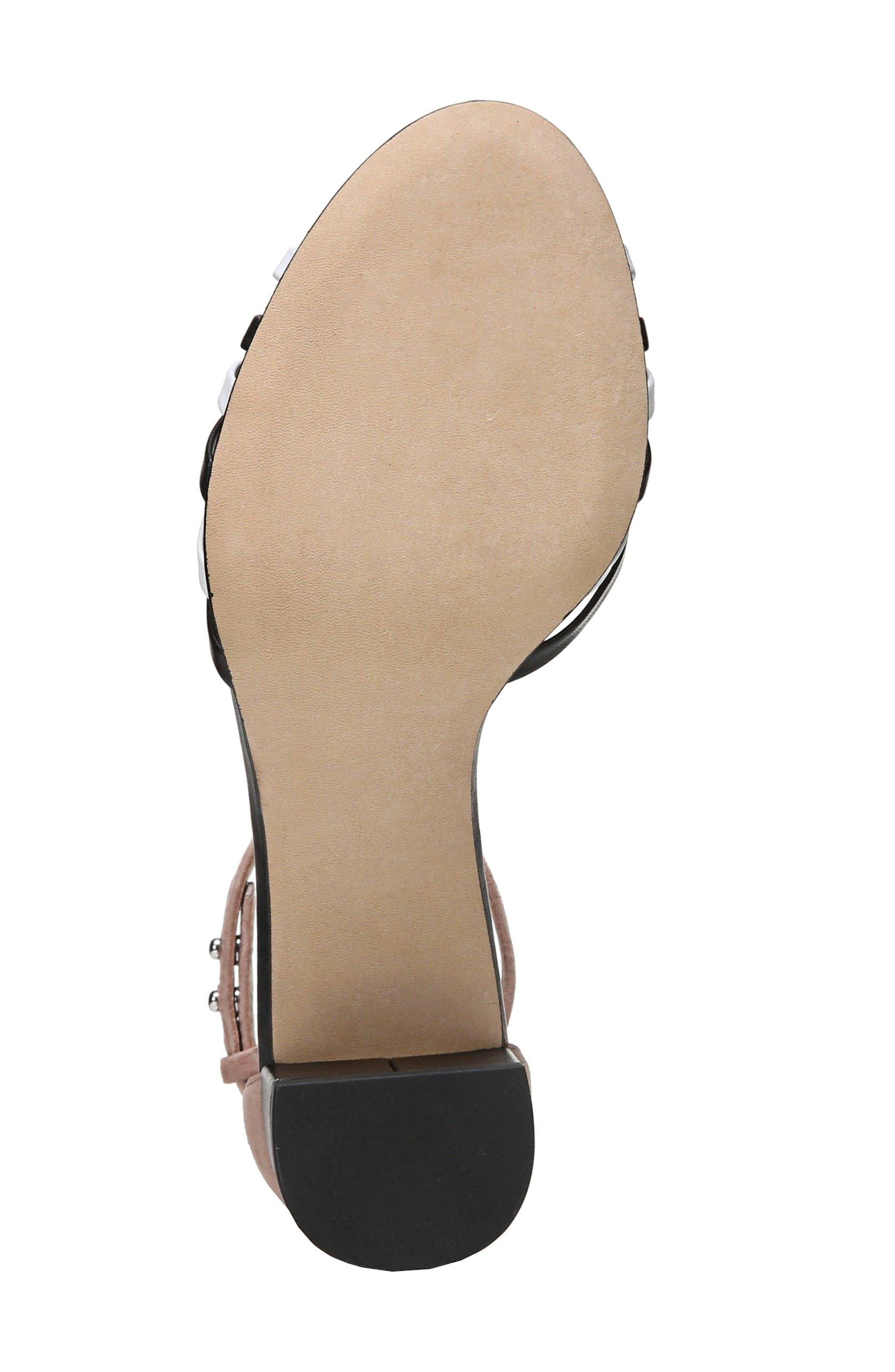 Fonseca Ankle Strap Sandal,                             Alternate thumbnail 6, color,                             001