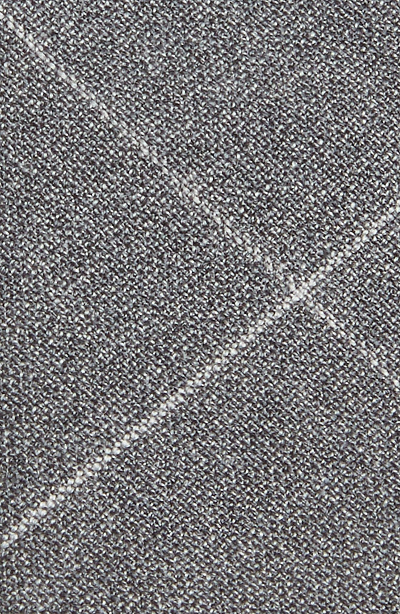 Windowpane Wool Skinny Tie,                             Alternate thumbnail 2, color,                             LIGHT GREY