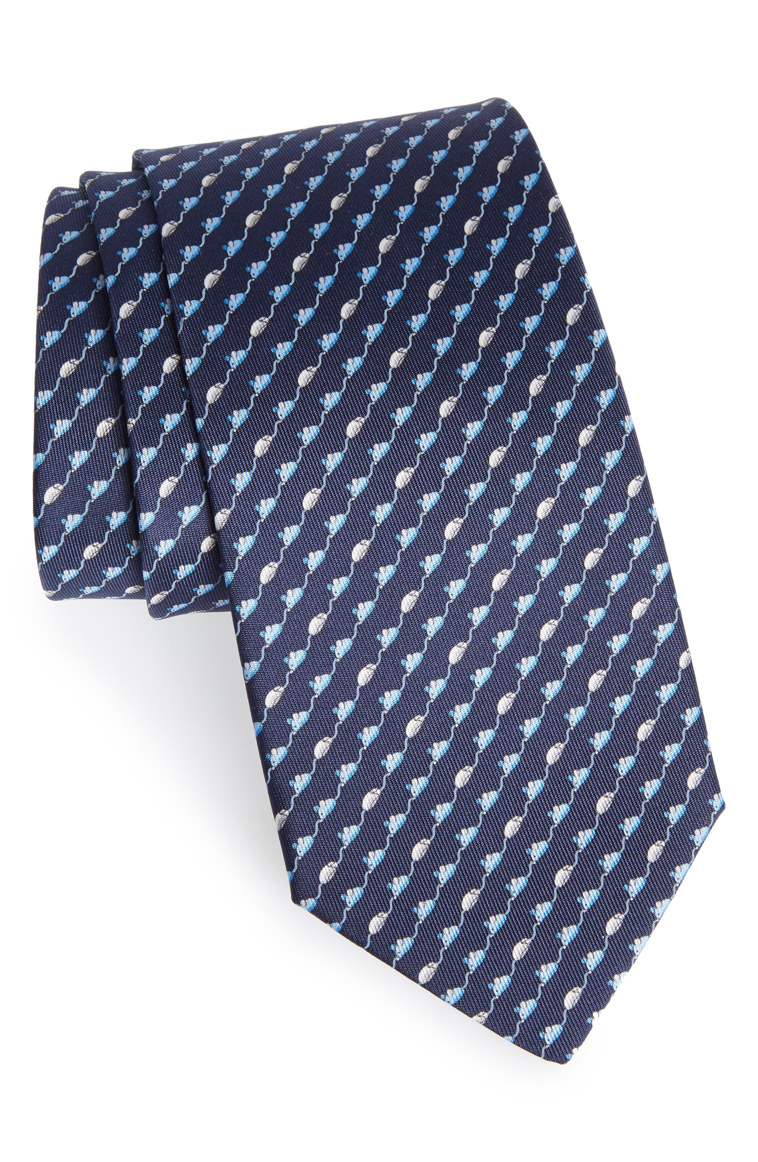 Mouse Print Silk Tie,                         Main,                         color, 410