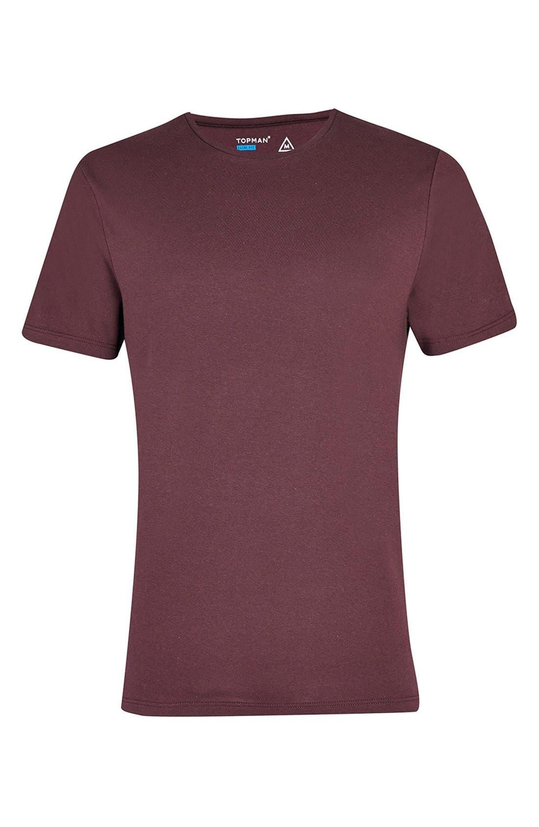 Slim Fit Crewneck T-Shirt,                             Alternate thumbnail 424, color,