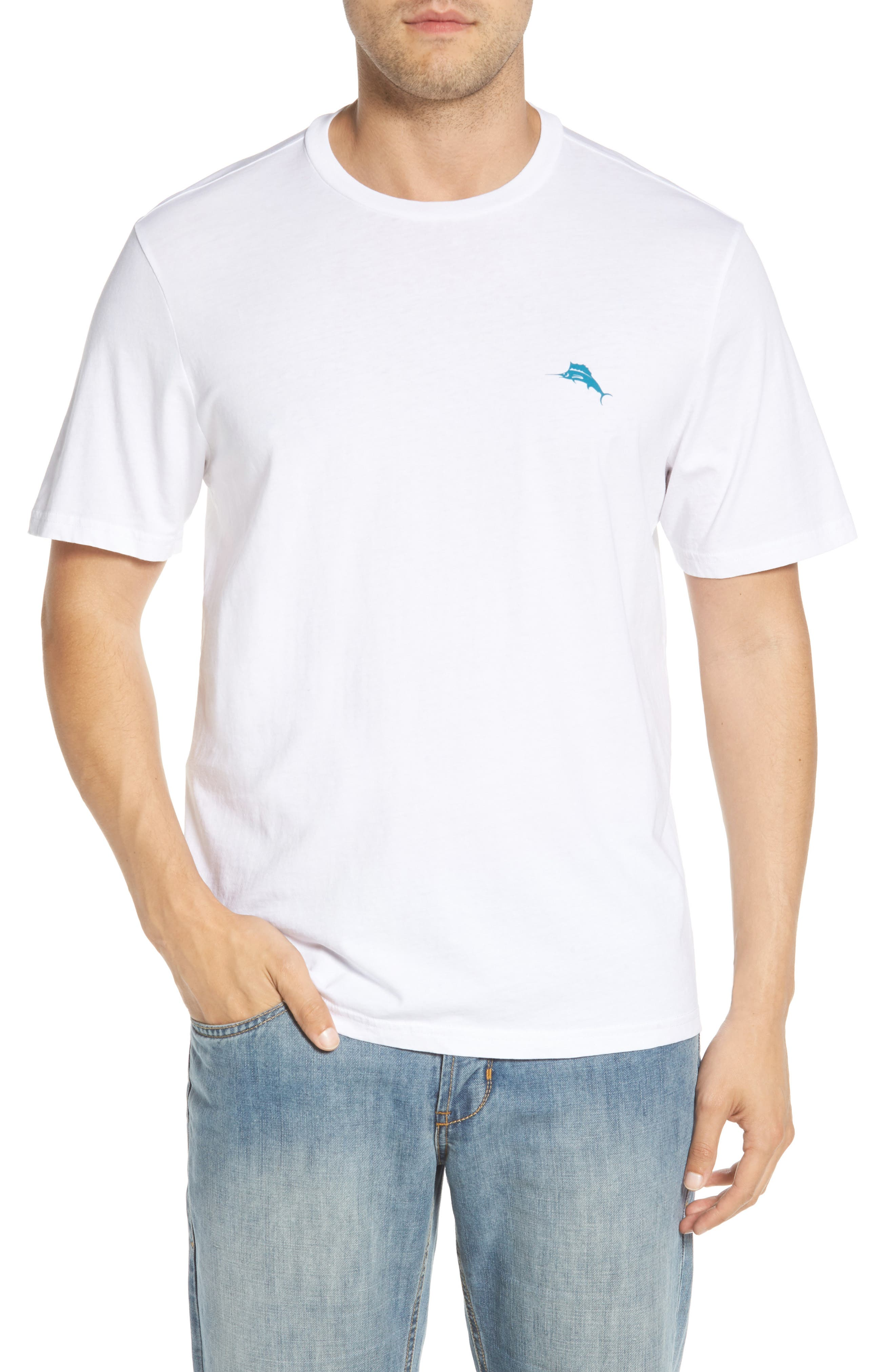 Parrot Pair T-Shirt,                             Main thumbnail 1, color,                             WHITE