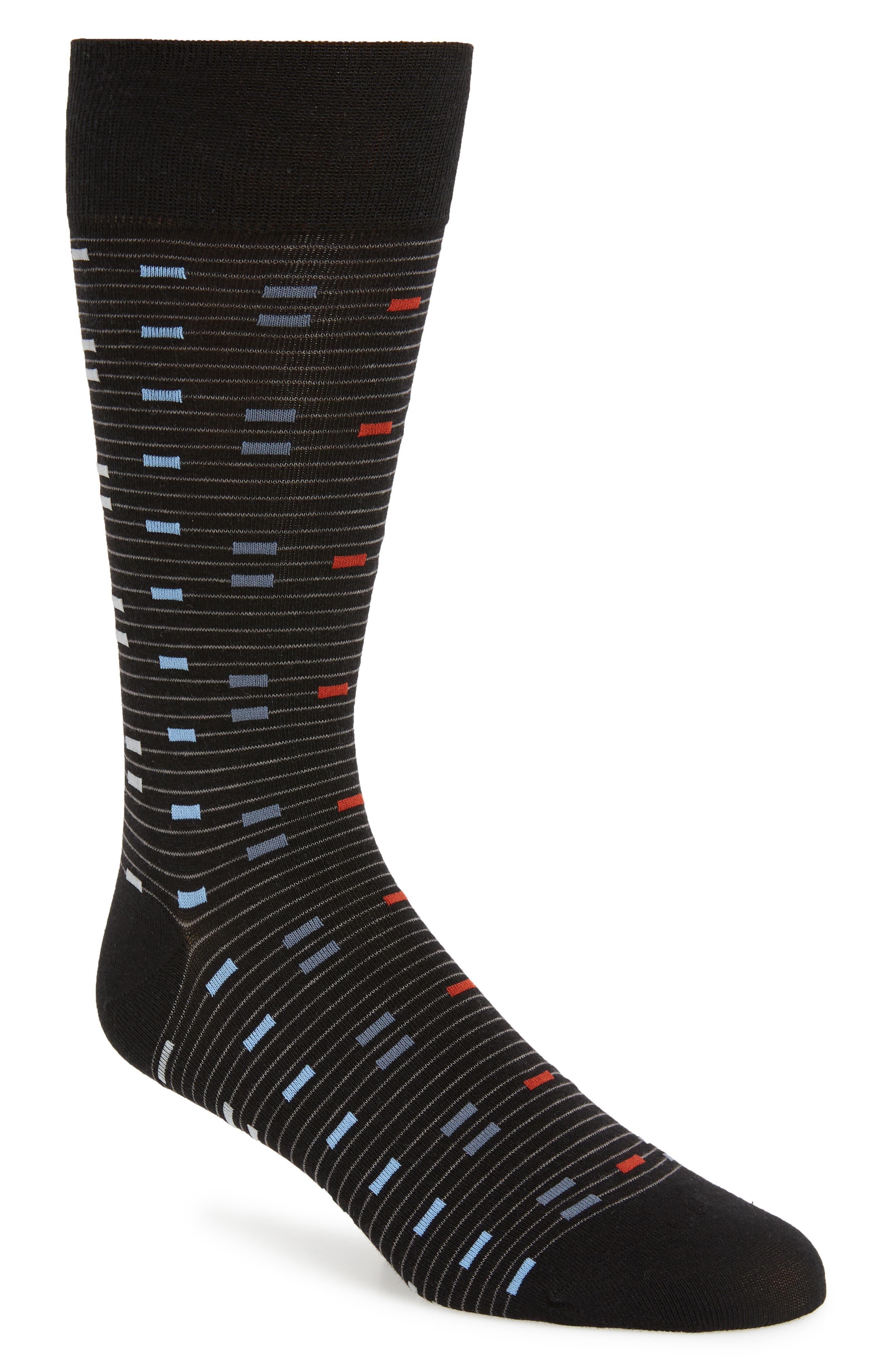 Vintage Men's Socks History-1900 to 1960s Mens Cole Haan Digital Stripe Socks $4.98 AT vintagedancer.com