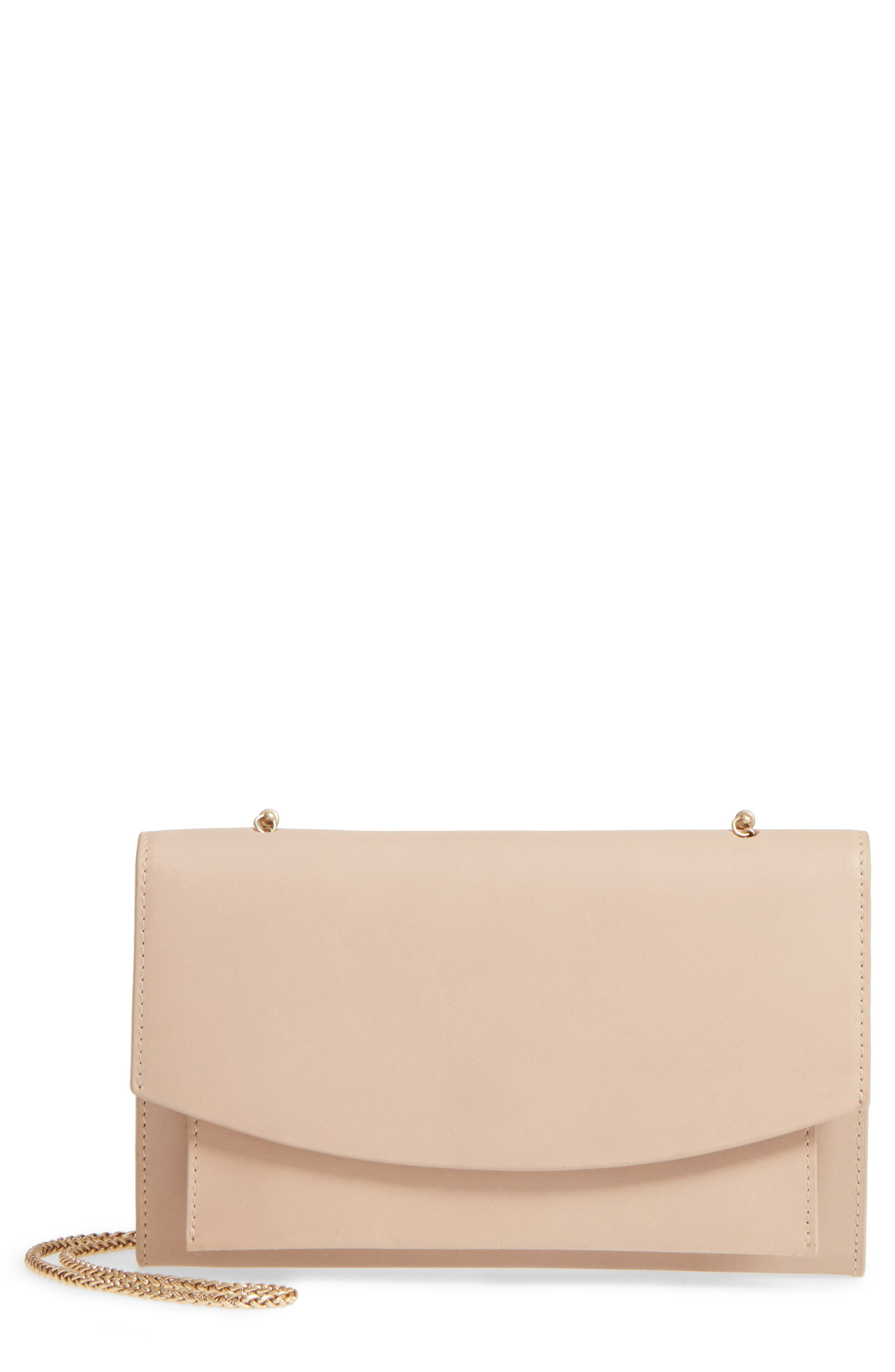 Eryka Leather Wallet on a Chain,                         Main,                         color, 251
