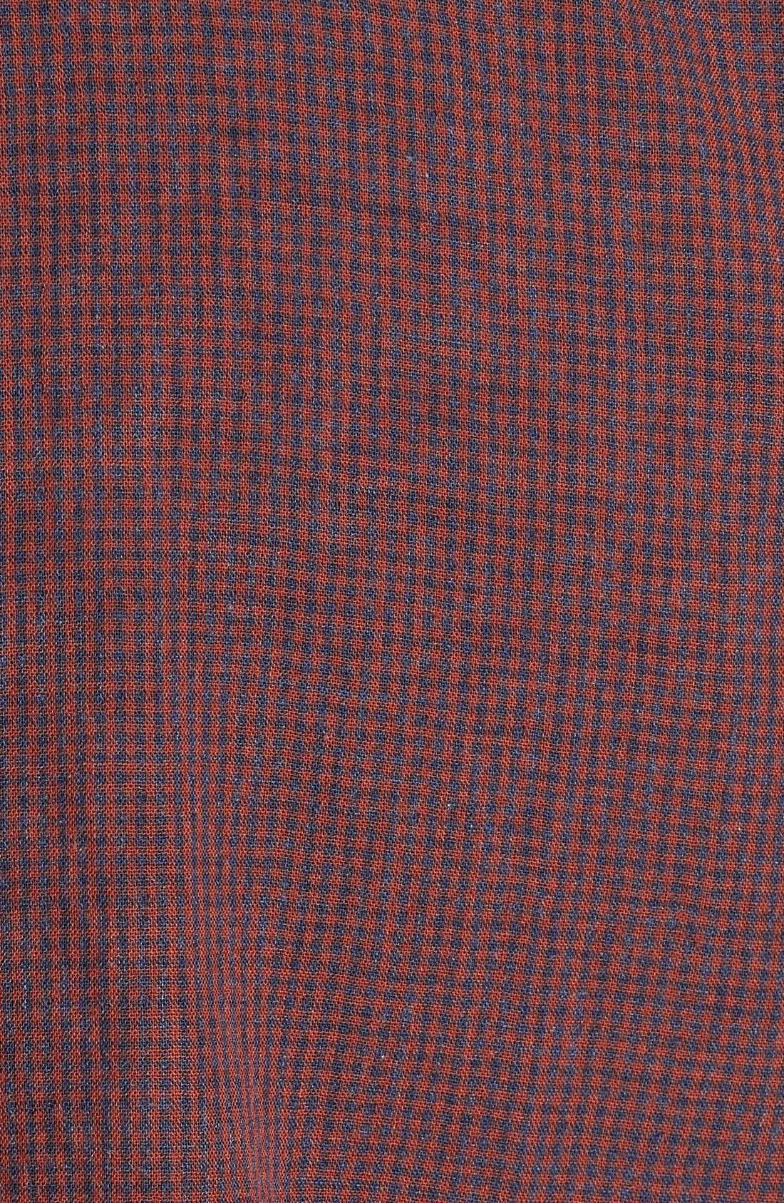 'Havana Squared' Regular Fit Microcheck Sport Shirt,                             Alternate thumbnail 5, color,                             200