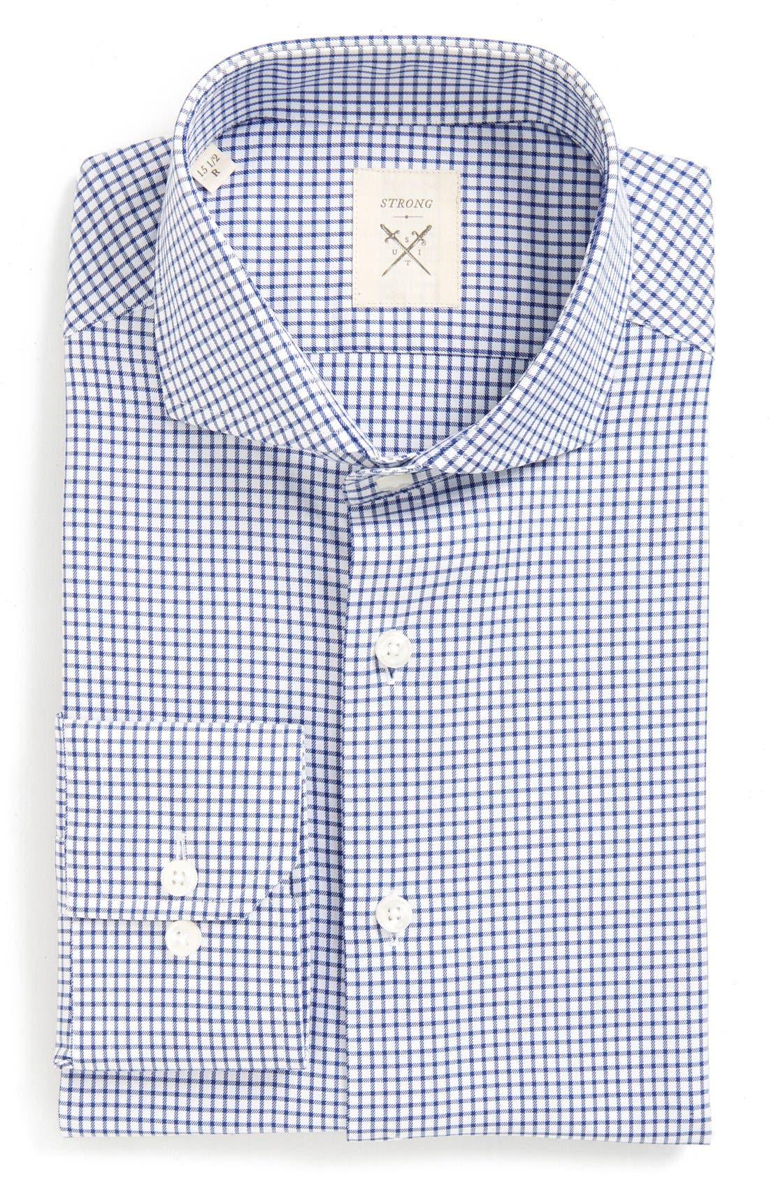 'Espirit' Trim Fit Check Dress Shirt,                         Main,                         color, 460