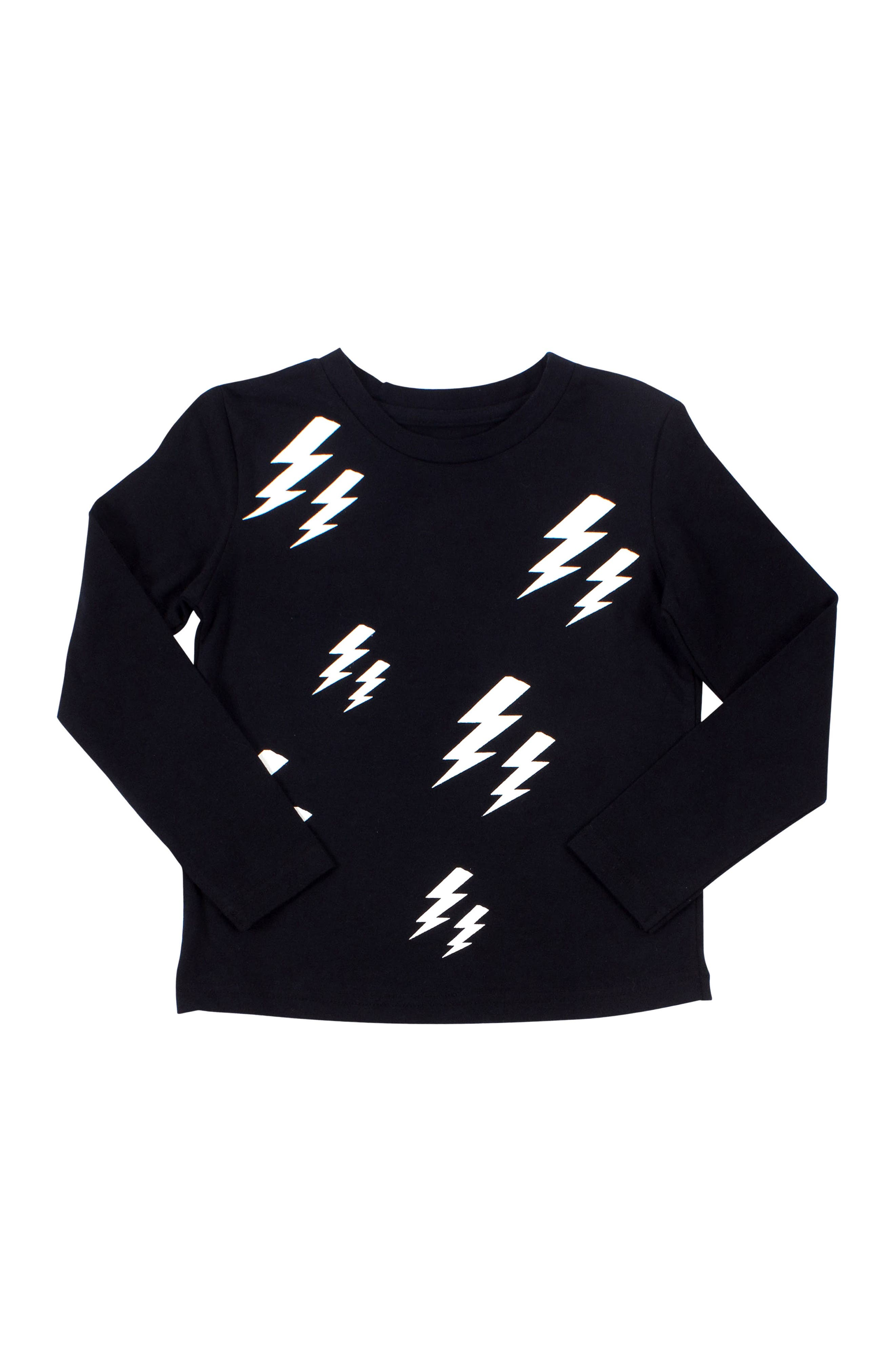 Lightning T-Shirt,                             Main thumbnail 1, color,                             001