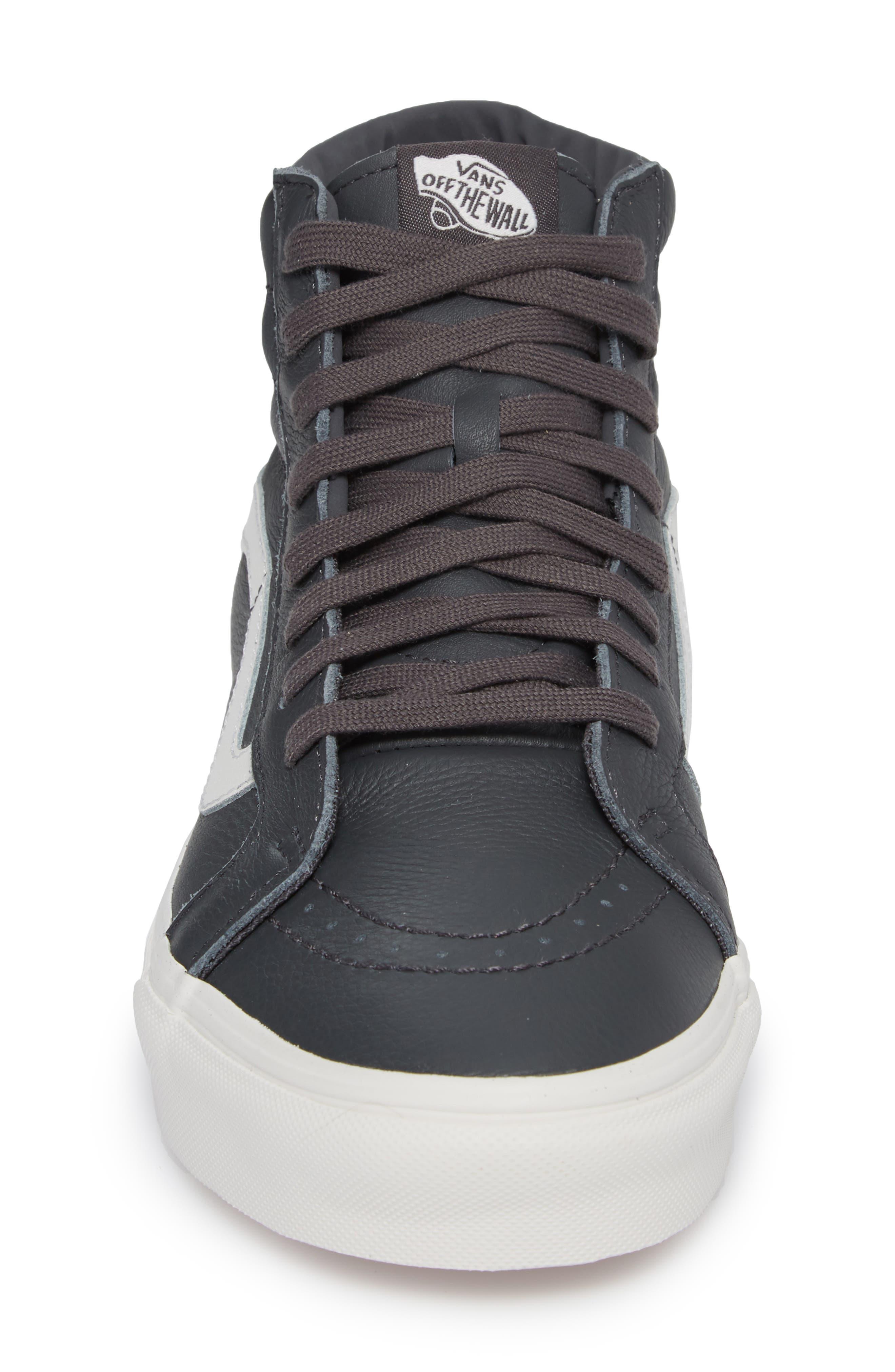 Sk8-Hi Reissue Leather Sneaker,                             Alternate thumbnail 4, color,                             020