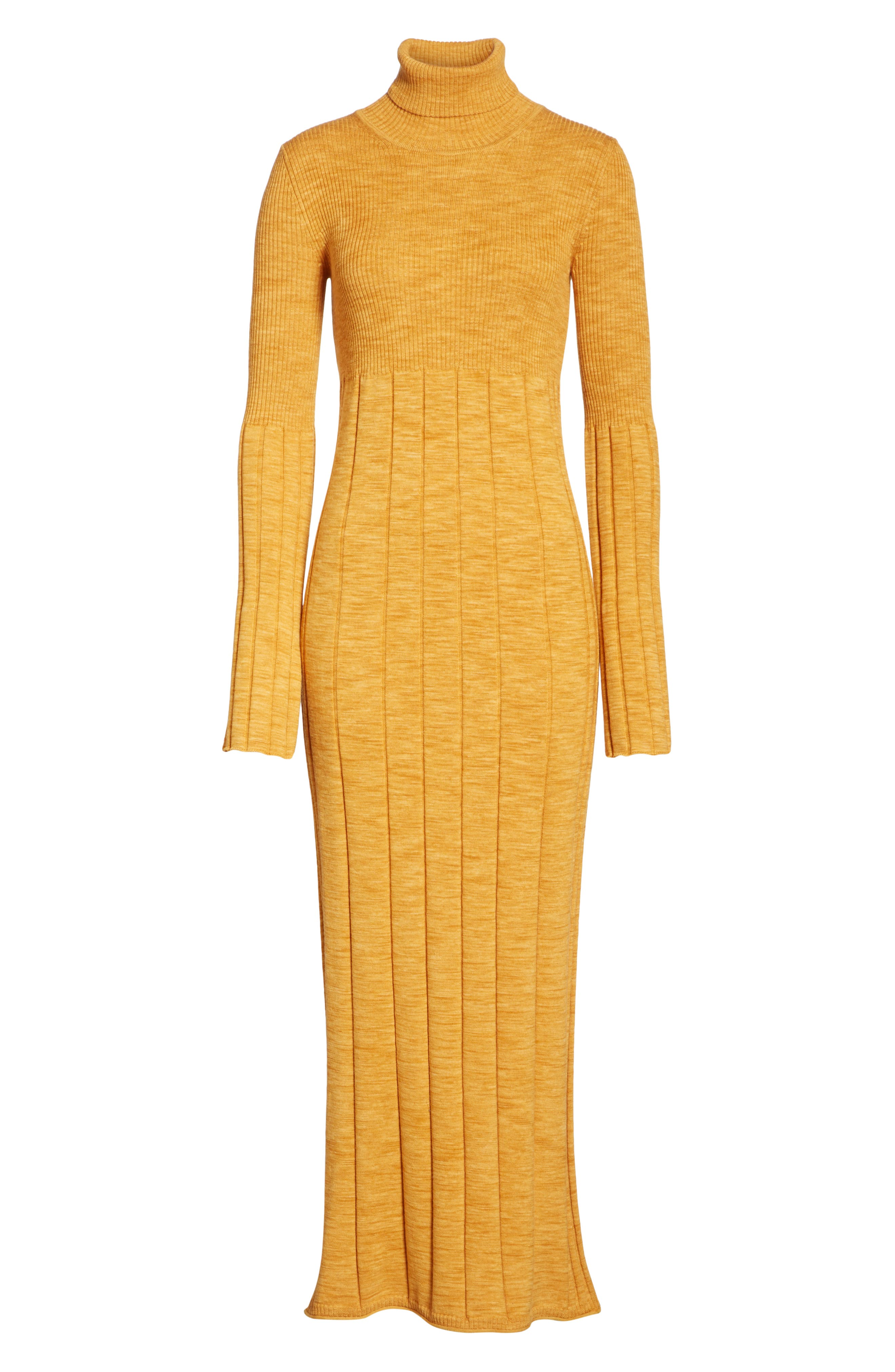 Clementine Ribbed Space Dye Wool Dress,                             Alternate thumbnail 6, color,                             700