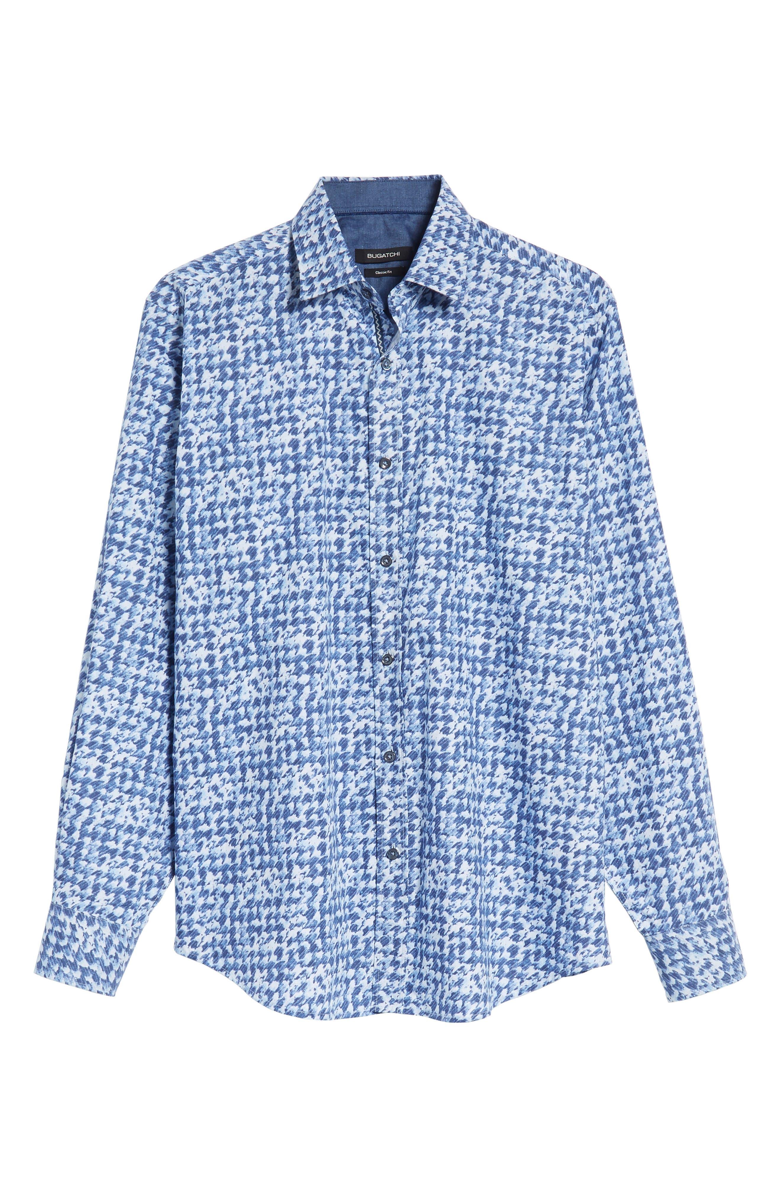 Classic Fit Patterned Sport Shirt,                             Alternate thumbnail 6, color,                             422