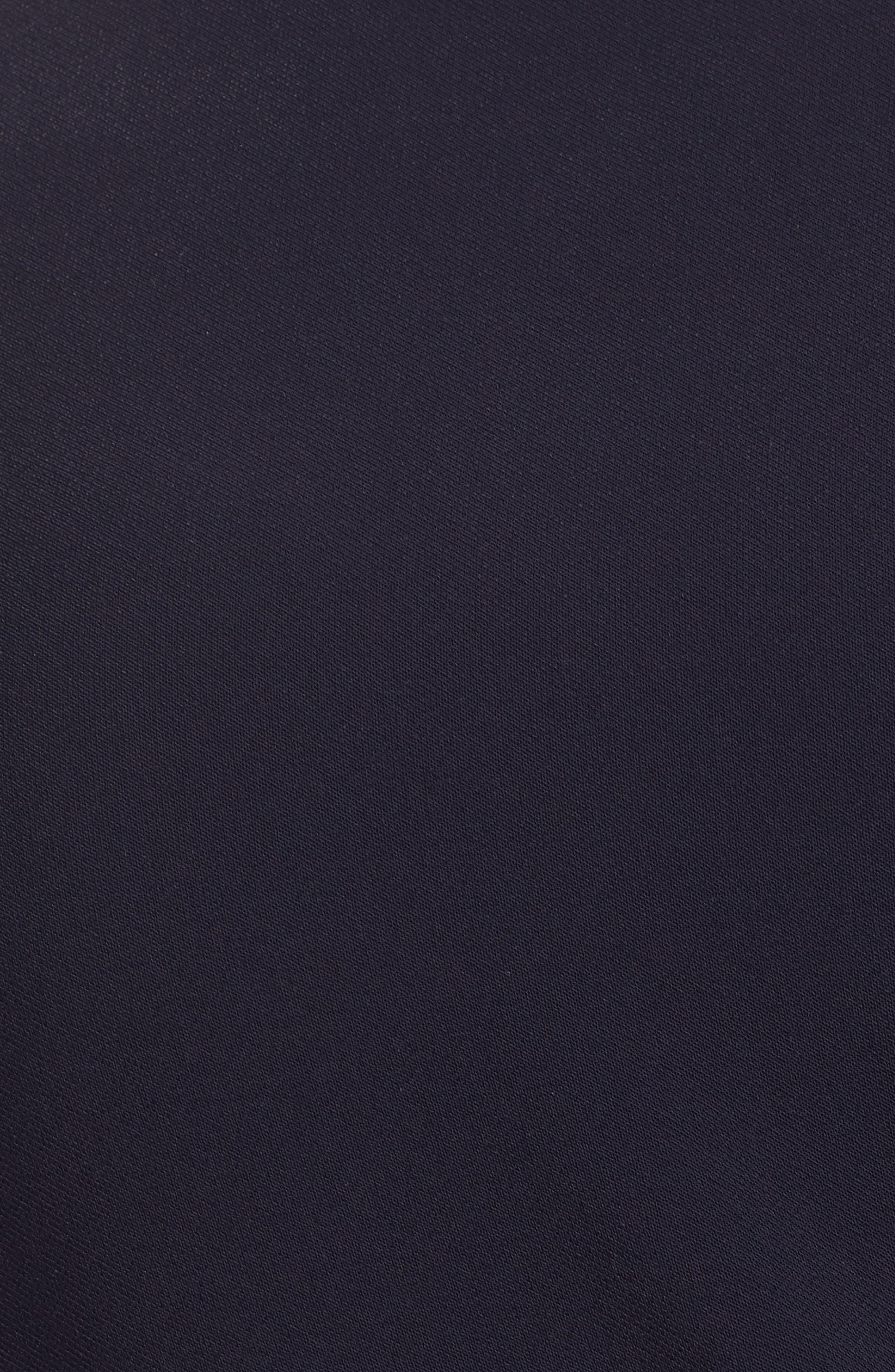 Tie Waist Crop Crepe Jumpsuit,                             Alternate thumbnail 6, color,                             NAVY
