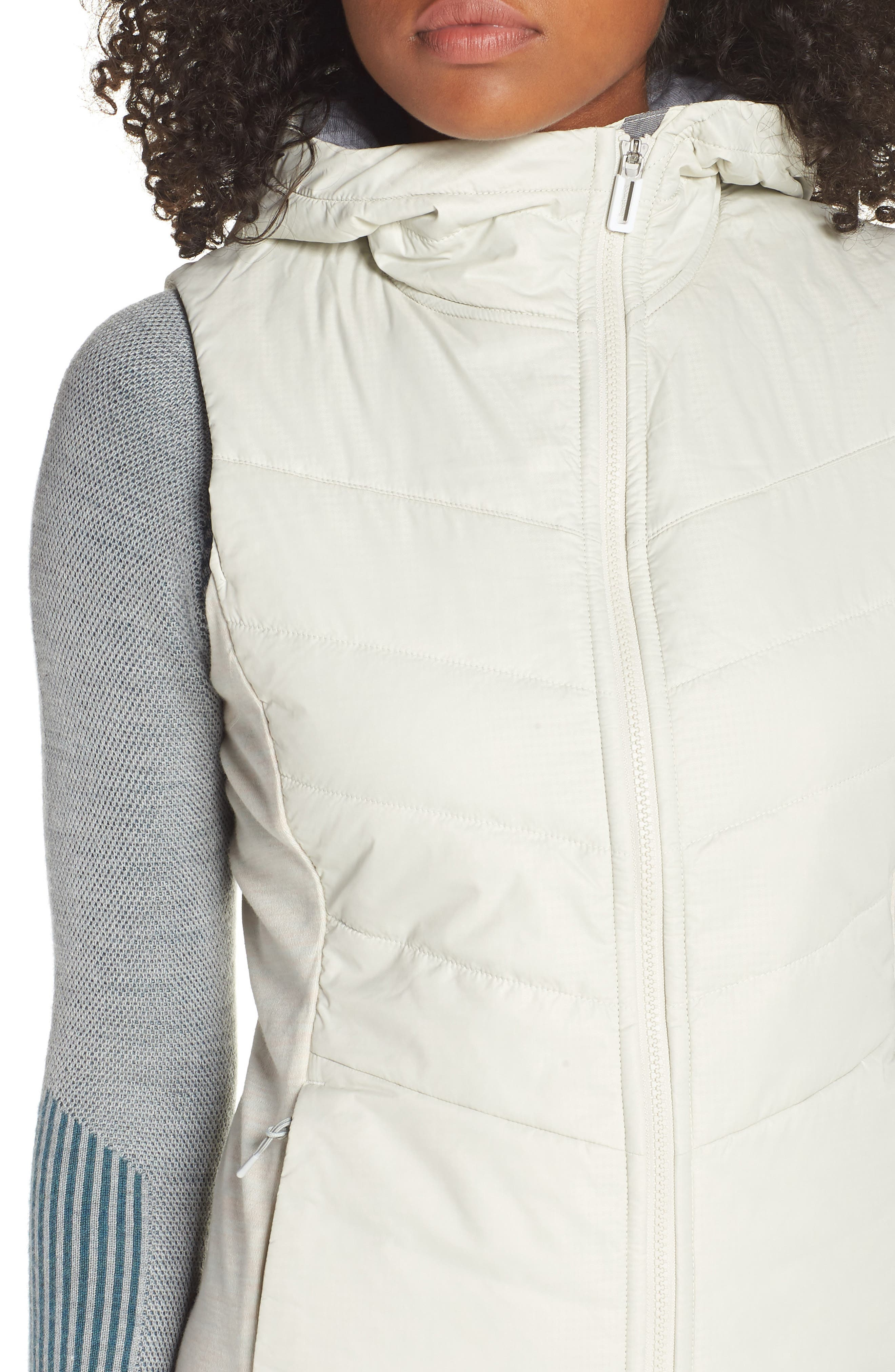 Smartloft 60 Insulated Hooded Vest,                             Alternate thumbnail 4, color,                             SILVER BIRCH