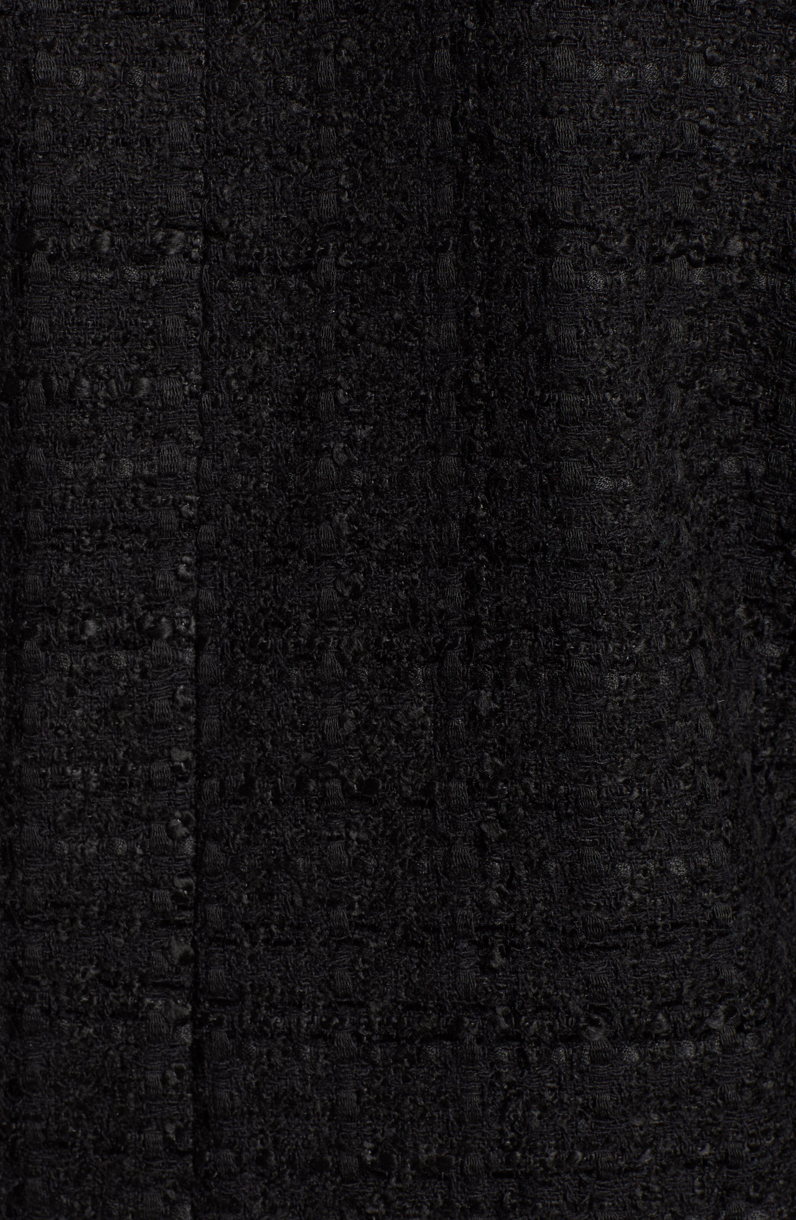 x Atlantic-Pacific Bow Detail Tweed Jacket,                             Alternate thumbnail 8, color,                             BLACK