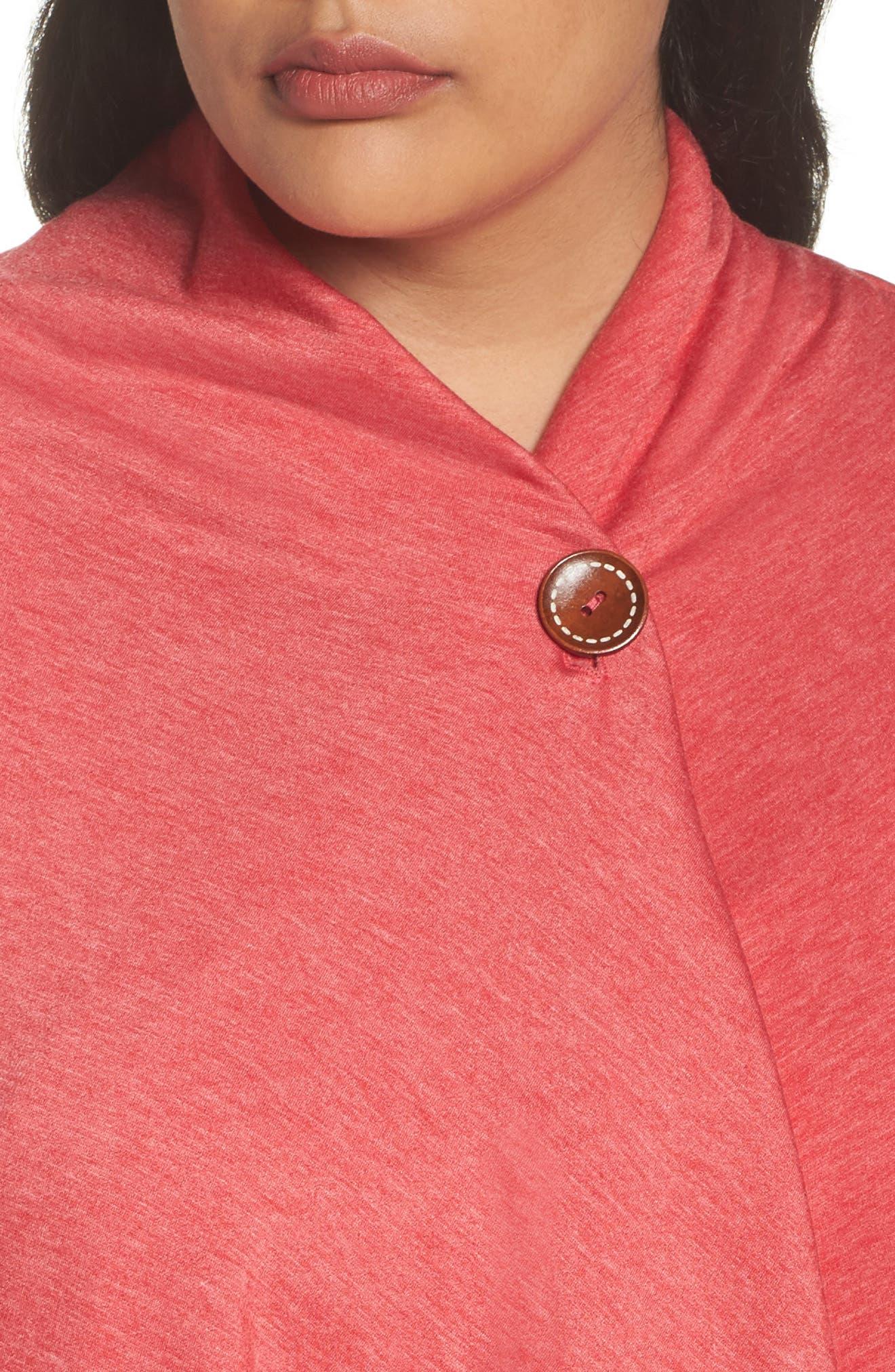 One-Button Fleece Cardigan,                             Alternate thumbnail 144, color,