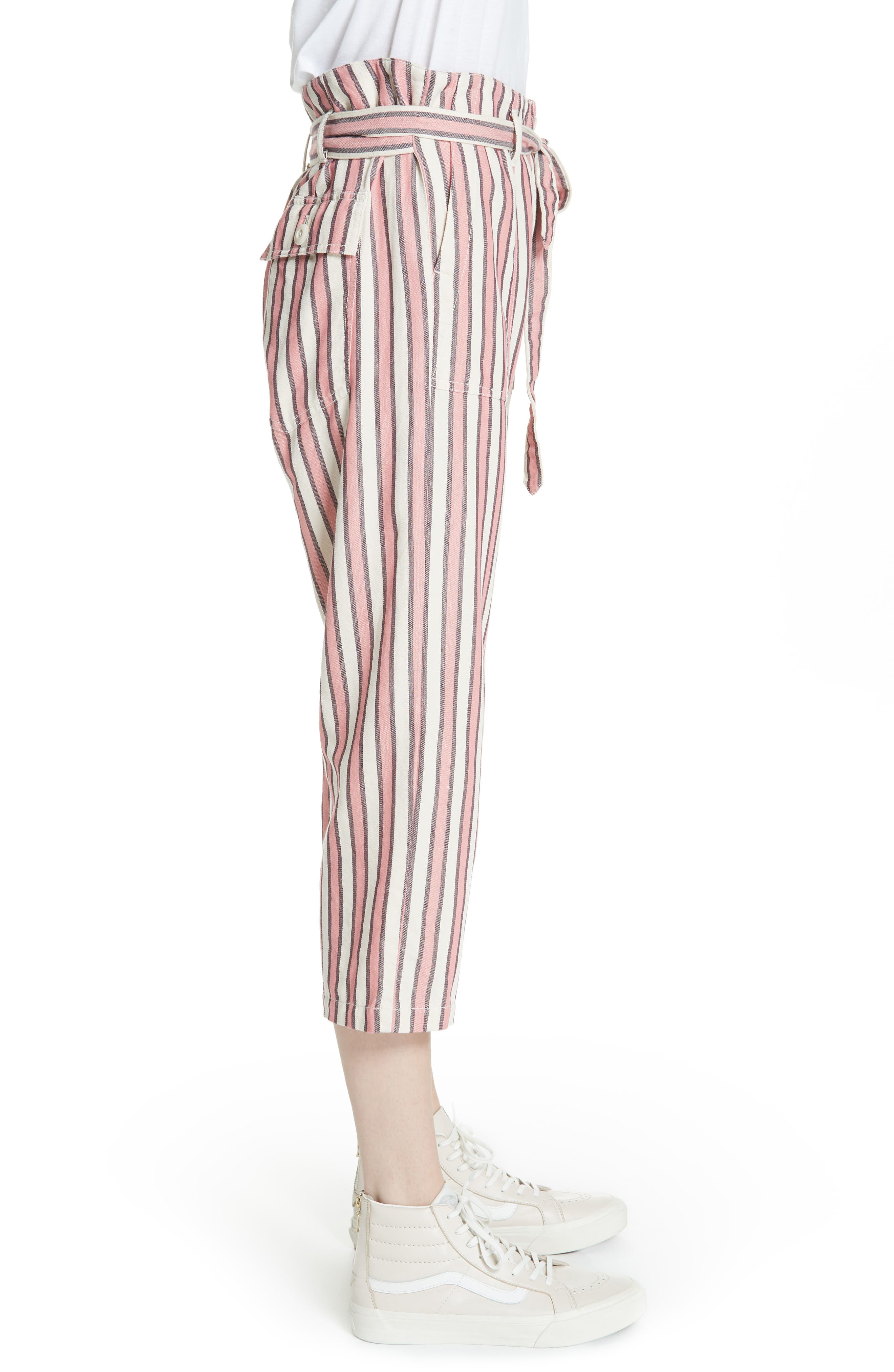 The Convertible Trousers,                             Alternate thumbnail 3, color,                             PINK TAFFY STRIPE