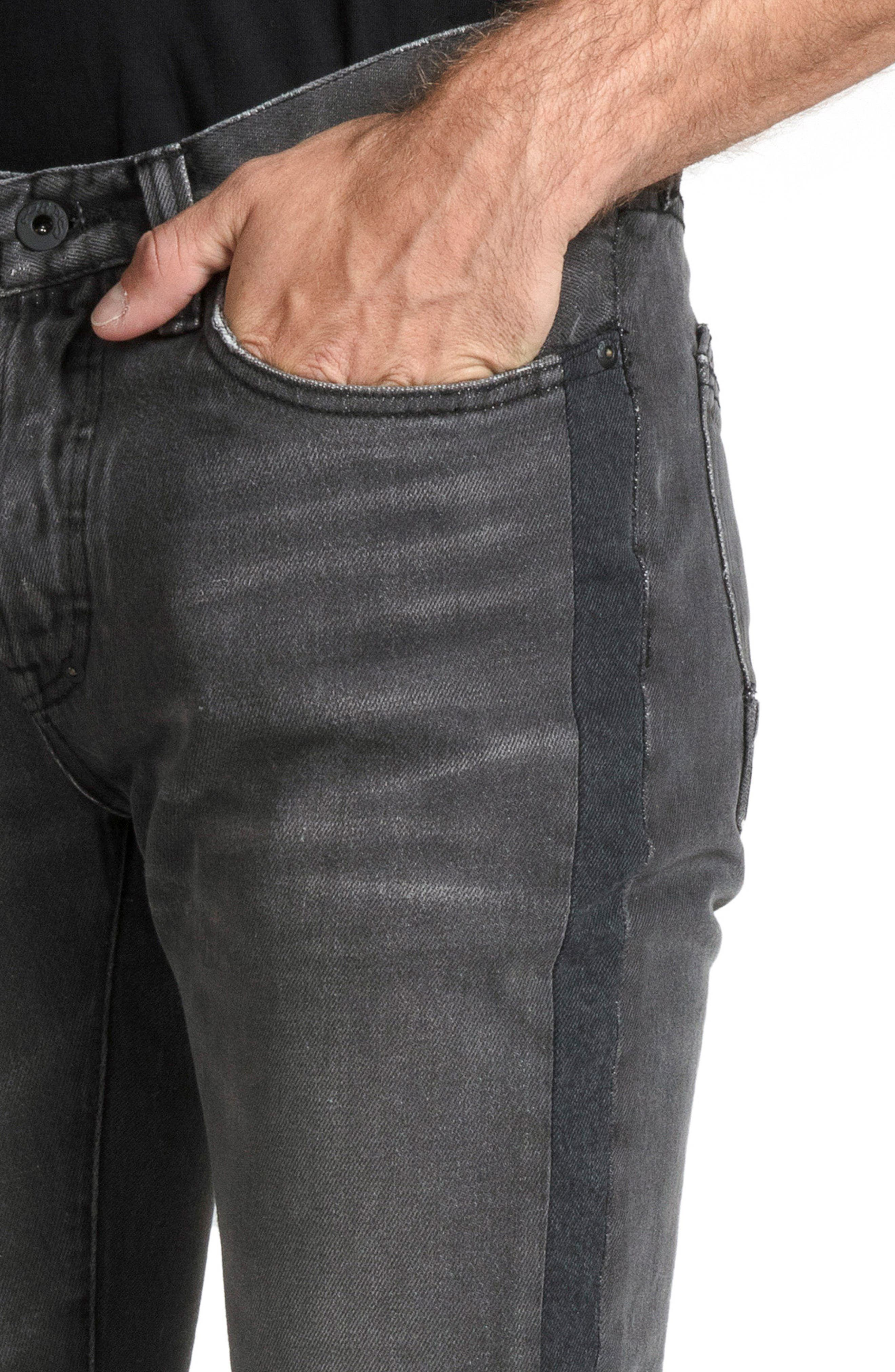 Le Sabre Slim Fit Jeans,                             Alternate thumbnail 4, color,                             ABHORRENT