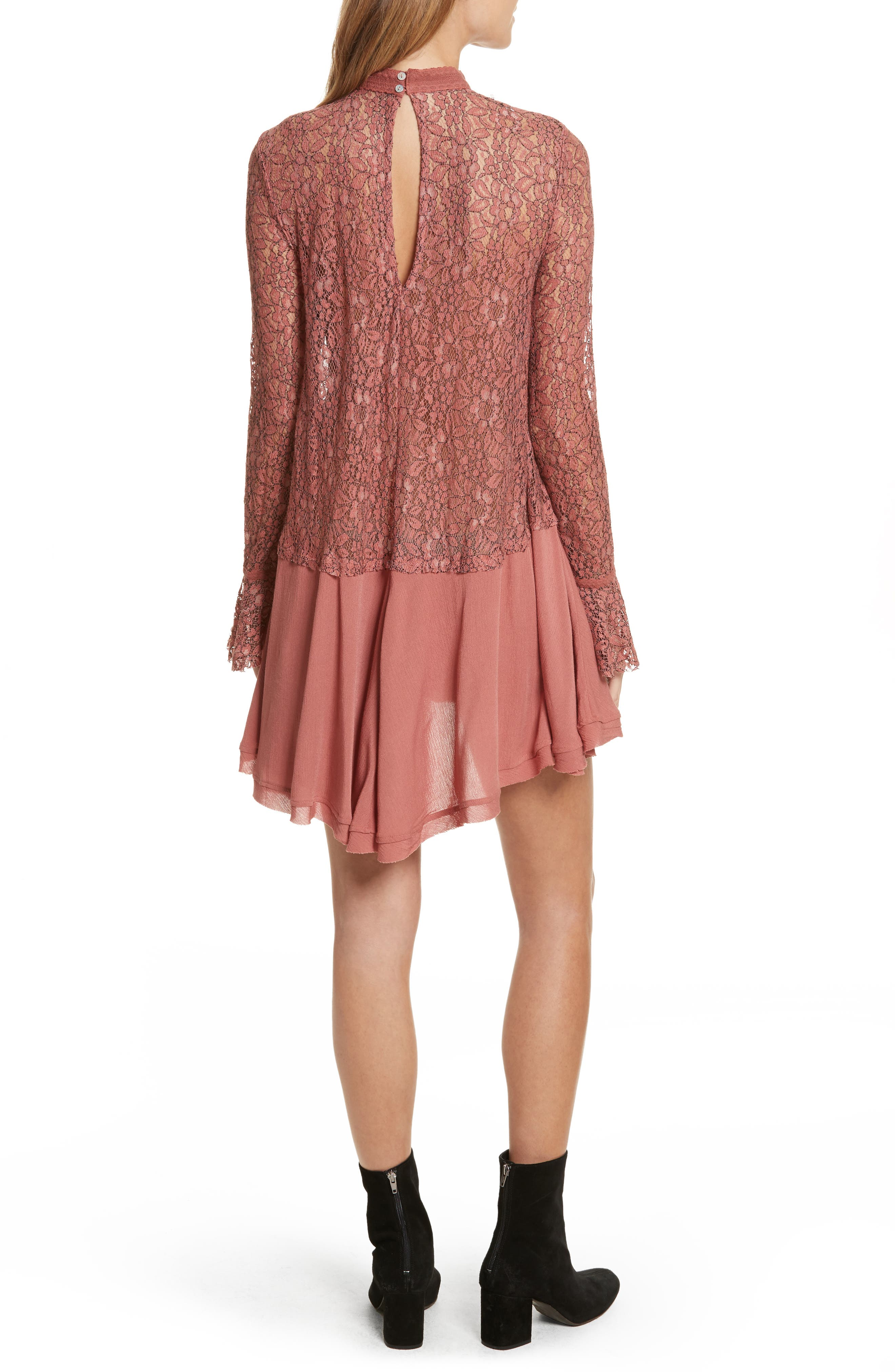 FREE PEOPLE,                             New Tell Tale Lace Minidress,                             Alternate thumbnail 2, color,                             605
