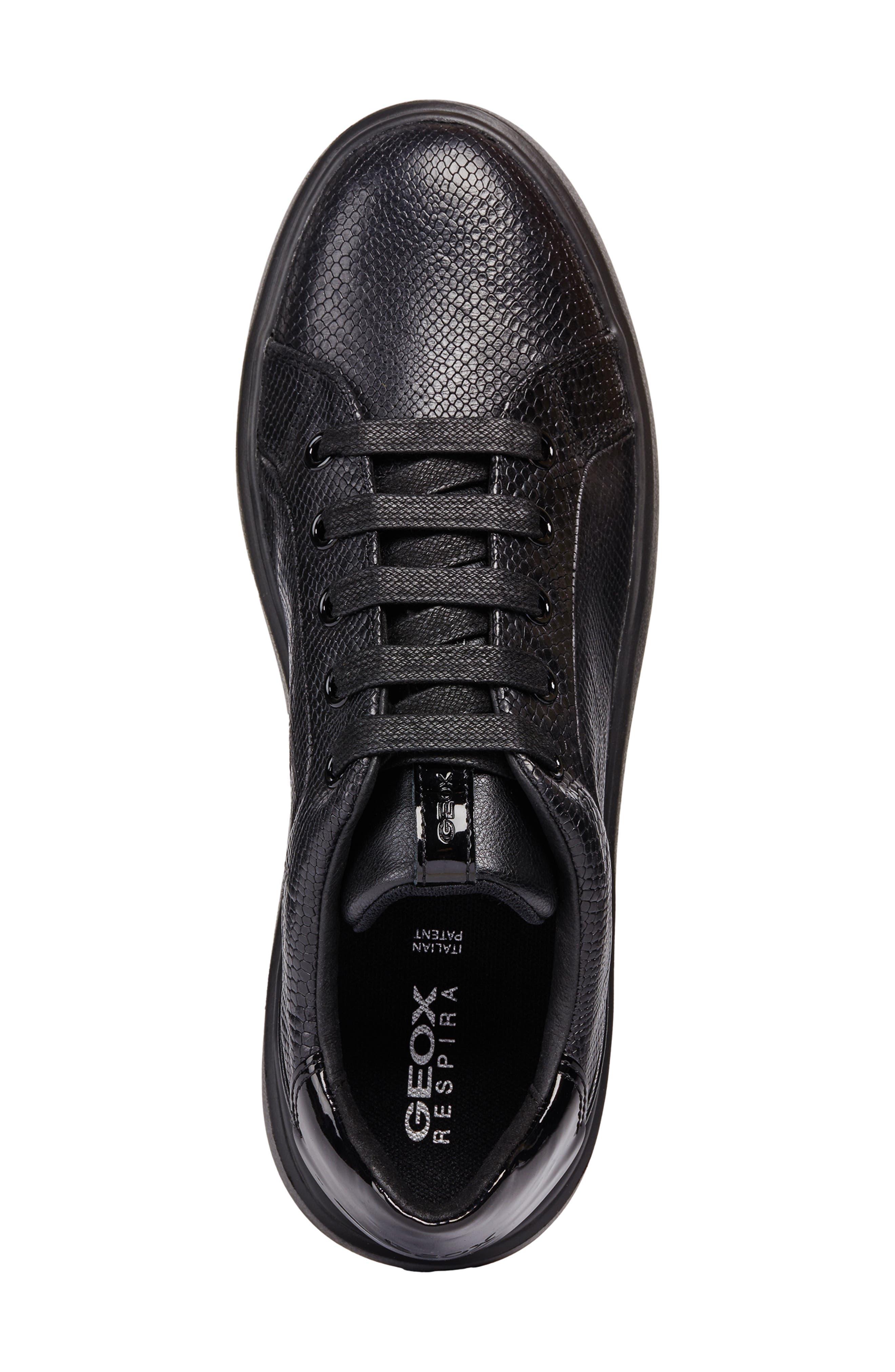 Nhenbus Sneaker,                             Alternate thumbnail 5, color,                             BLACK LEATHER