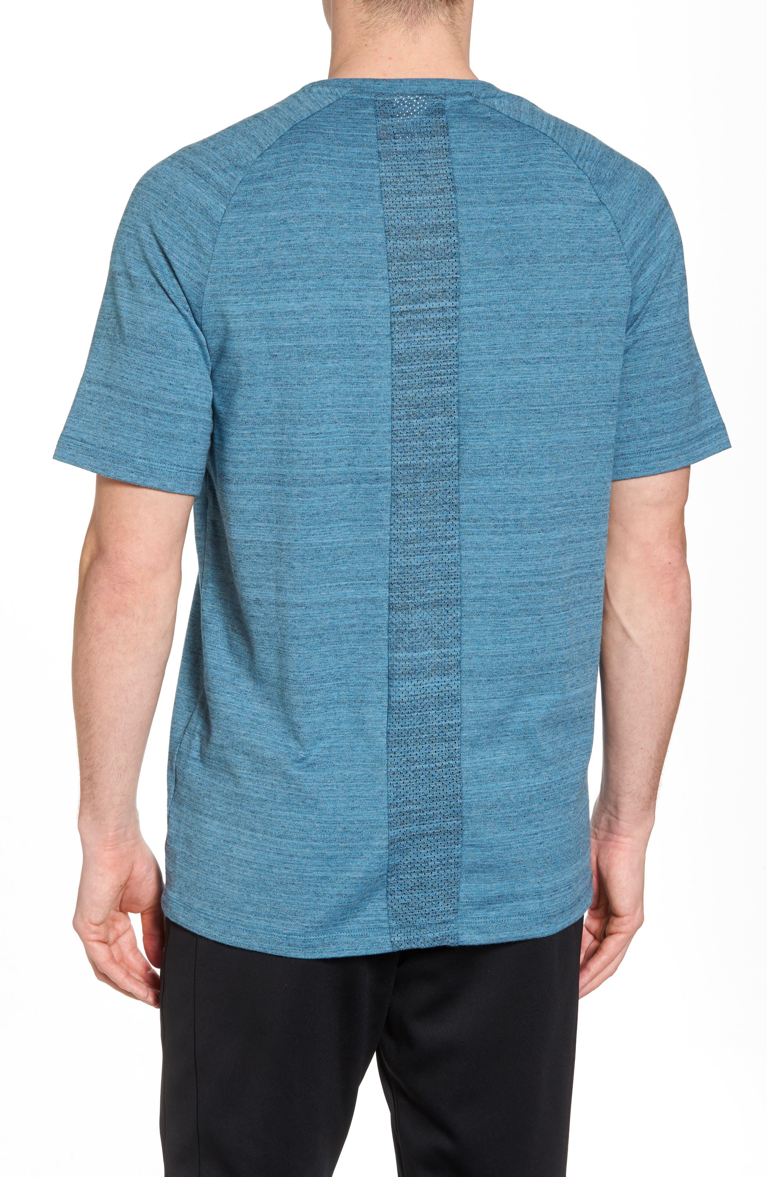 NSW AV15 Crewneck T-Shirt,                             Alternate thumbnail 2, color,                             NOISE AQUA/ HEATHER/ WHITE