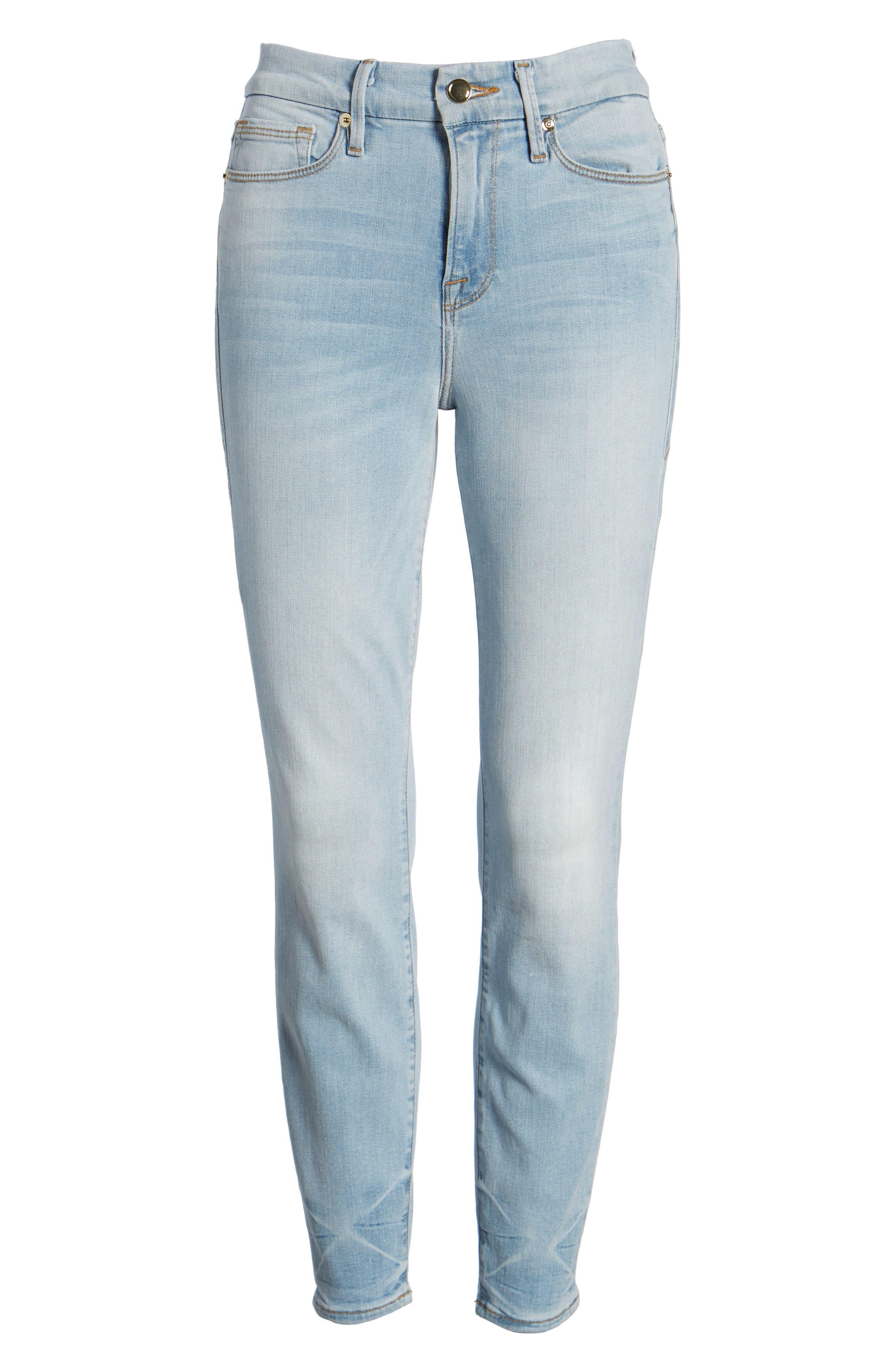 Good Legs High Waist Crop Skinny Jeans,                             Alternate thumbnail 8, color,                             401