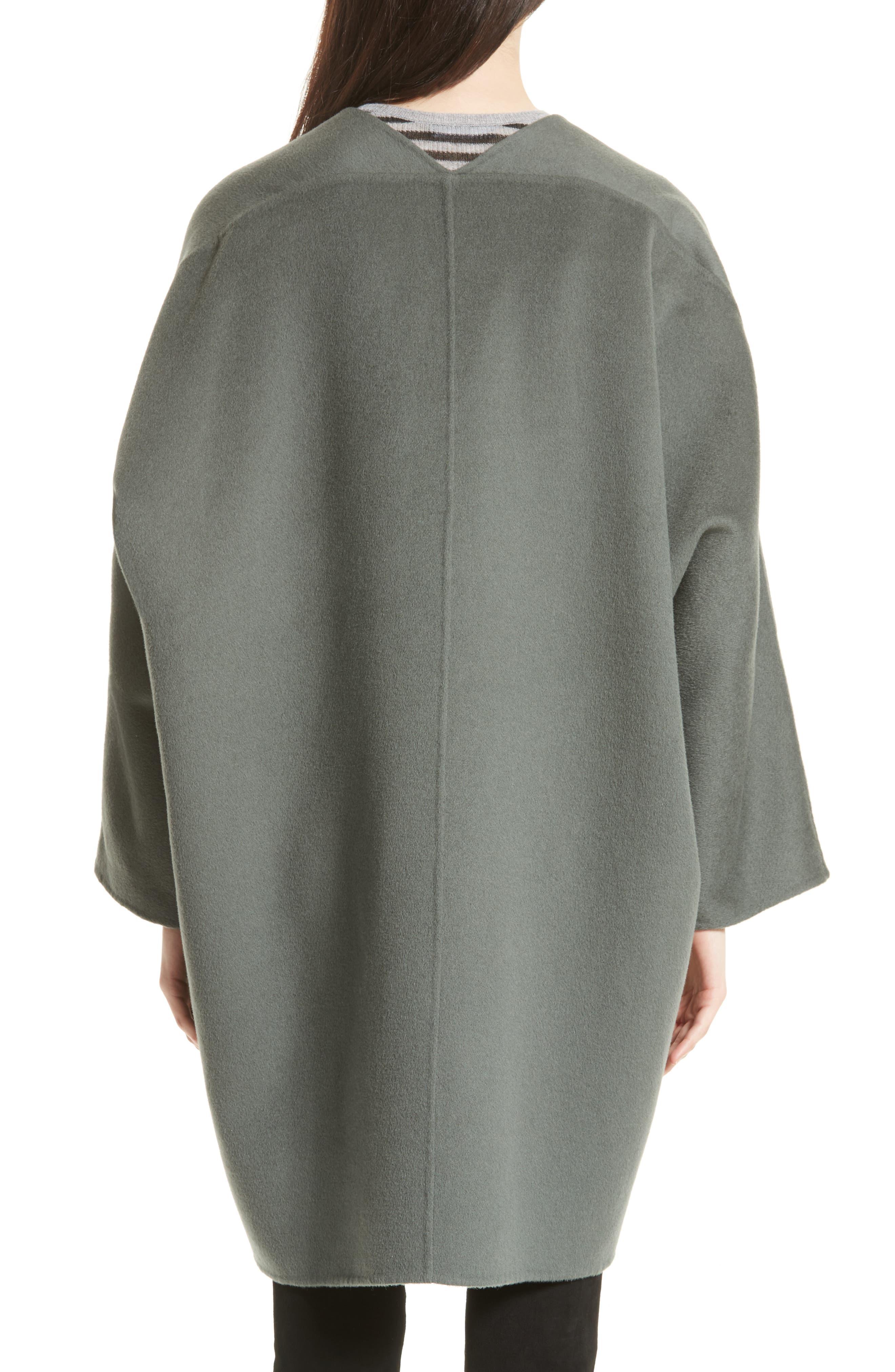 Reversible Wool & Cashmere Clutch Coat,                             Alternate thumbnail 6, color,