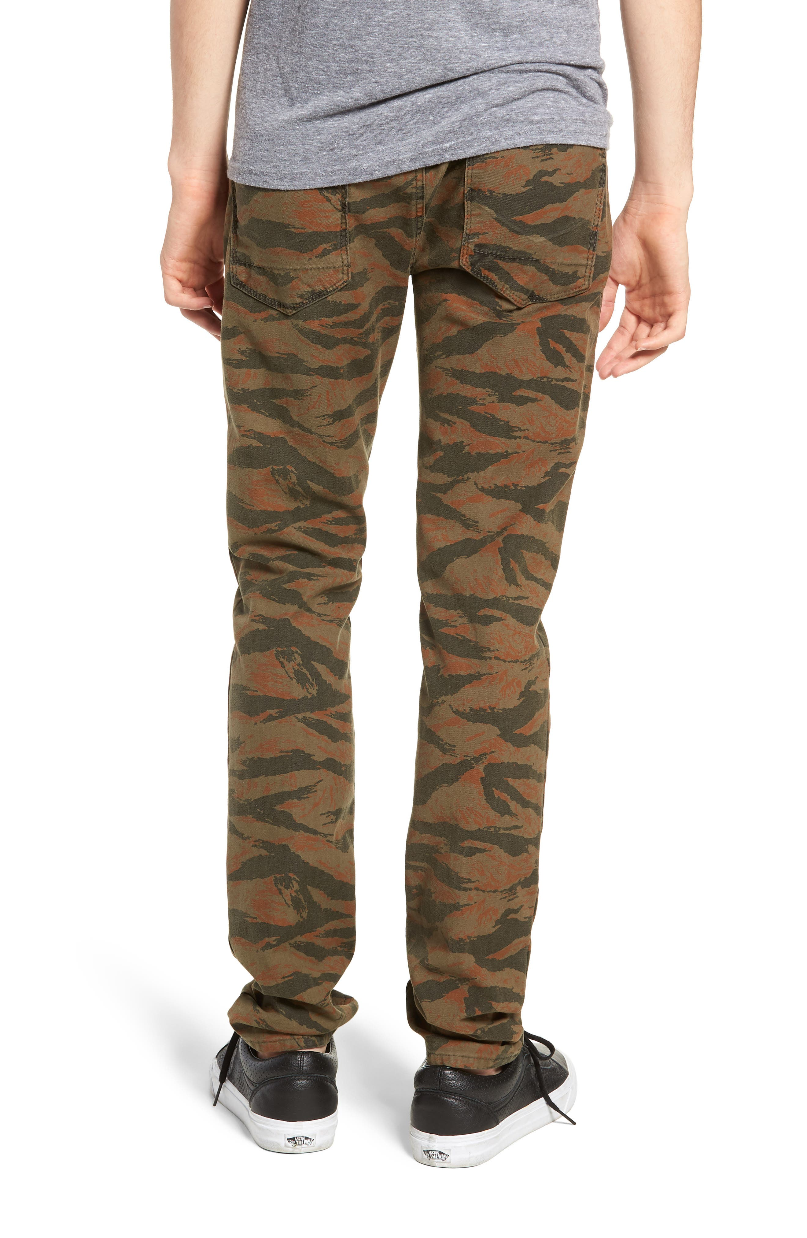 Axl Skinny Fit Jeans,                             Alternate thumbnail 2, color,                             TIGER CAMO