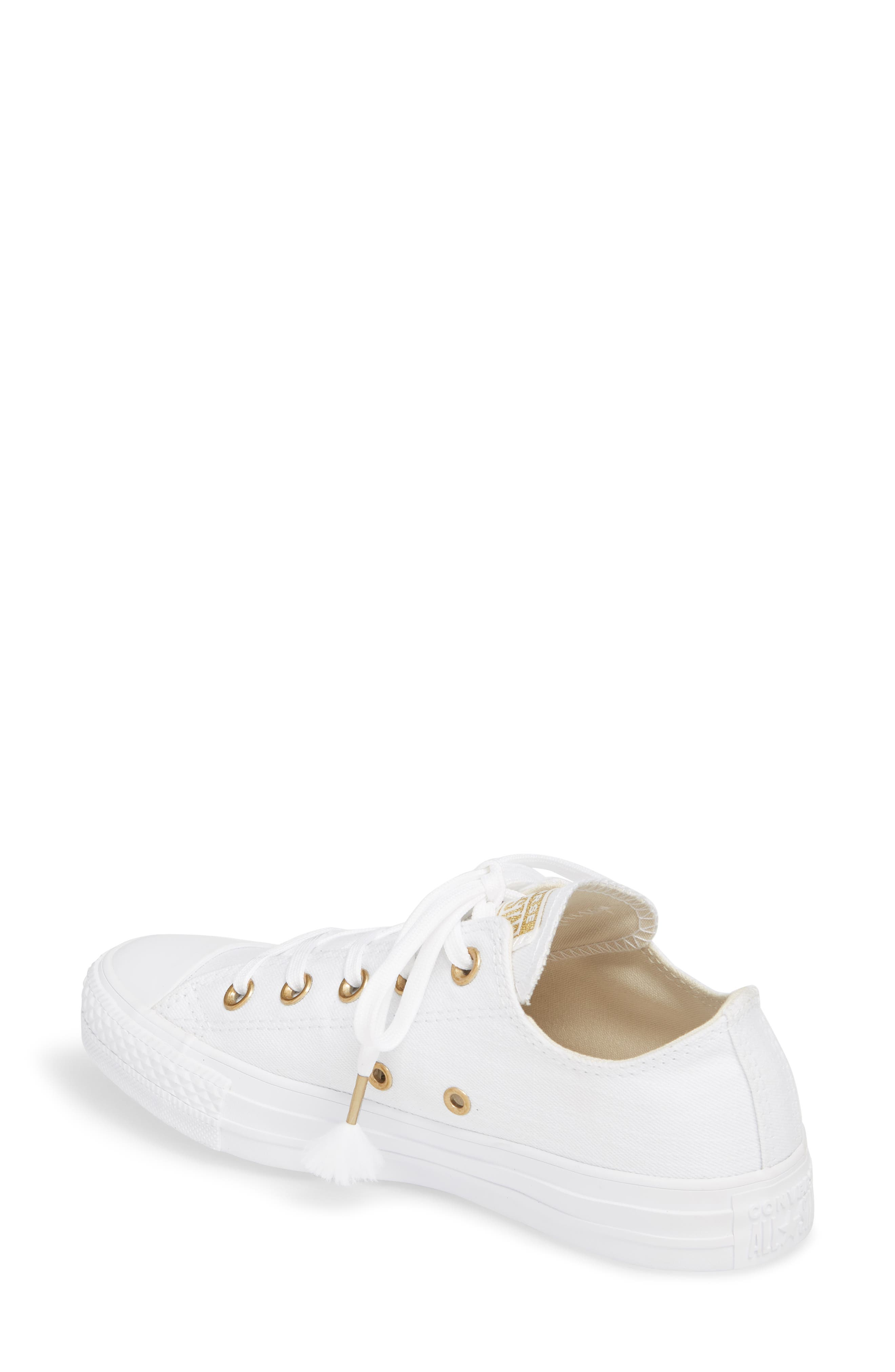 Chuck Taylor<sup>®</sup> All Star<sup>®</sup> Washed Linen Low Top Sneaker,                             Alternate thumbnail 4, color,