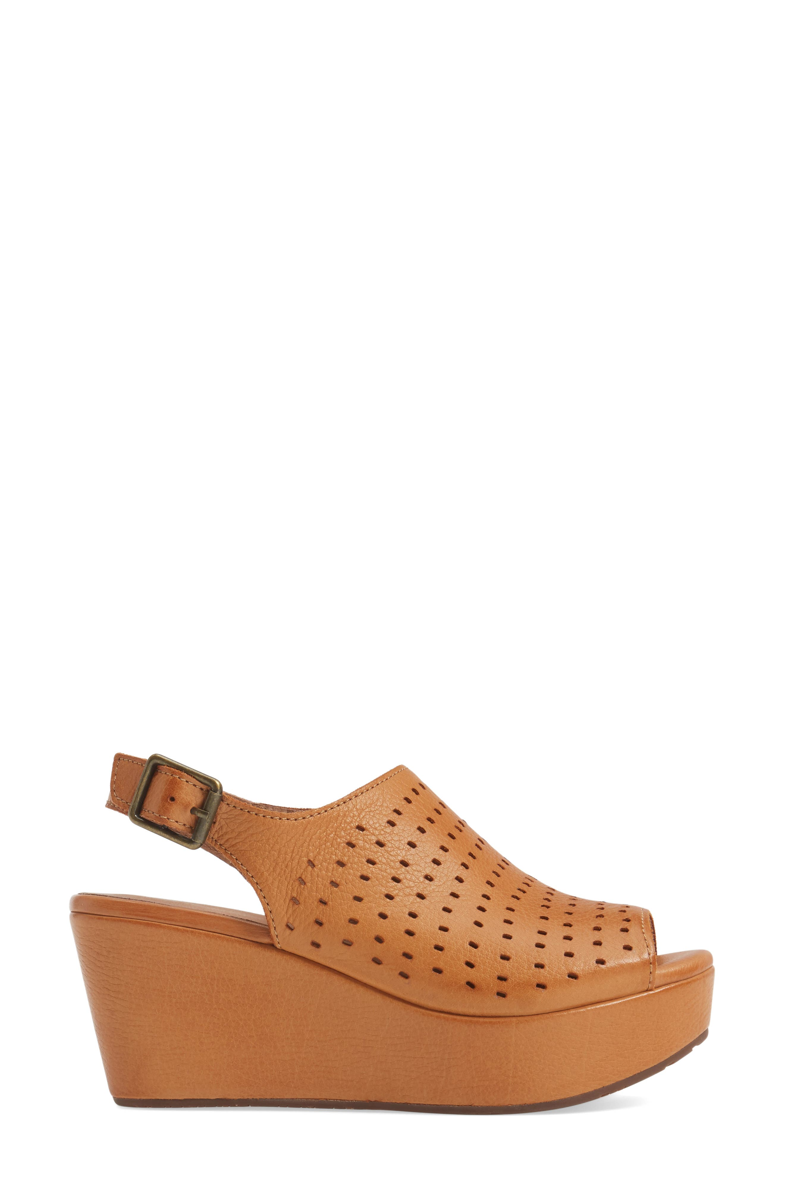 Wala Perforated Wedge Sandal,                             Alternate thumbnail 3, color,                             200