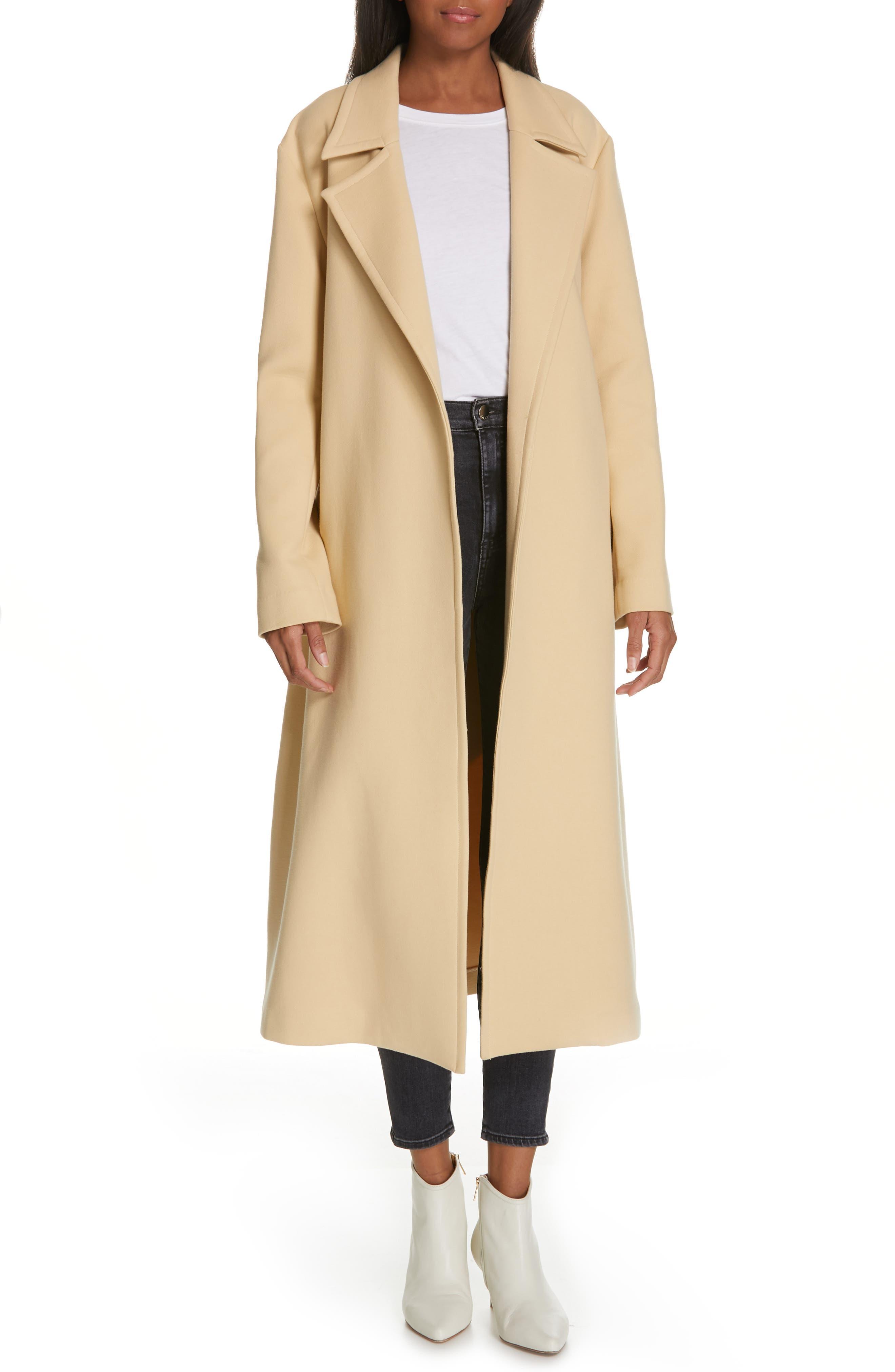 Alyssandra Trench Coat, Main, color, BISCUIT