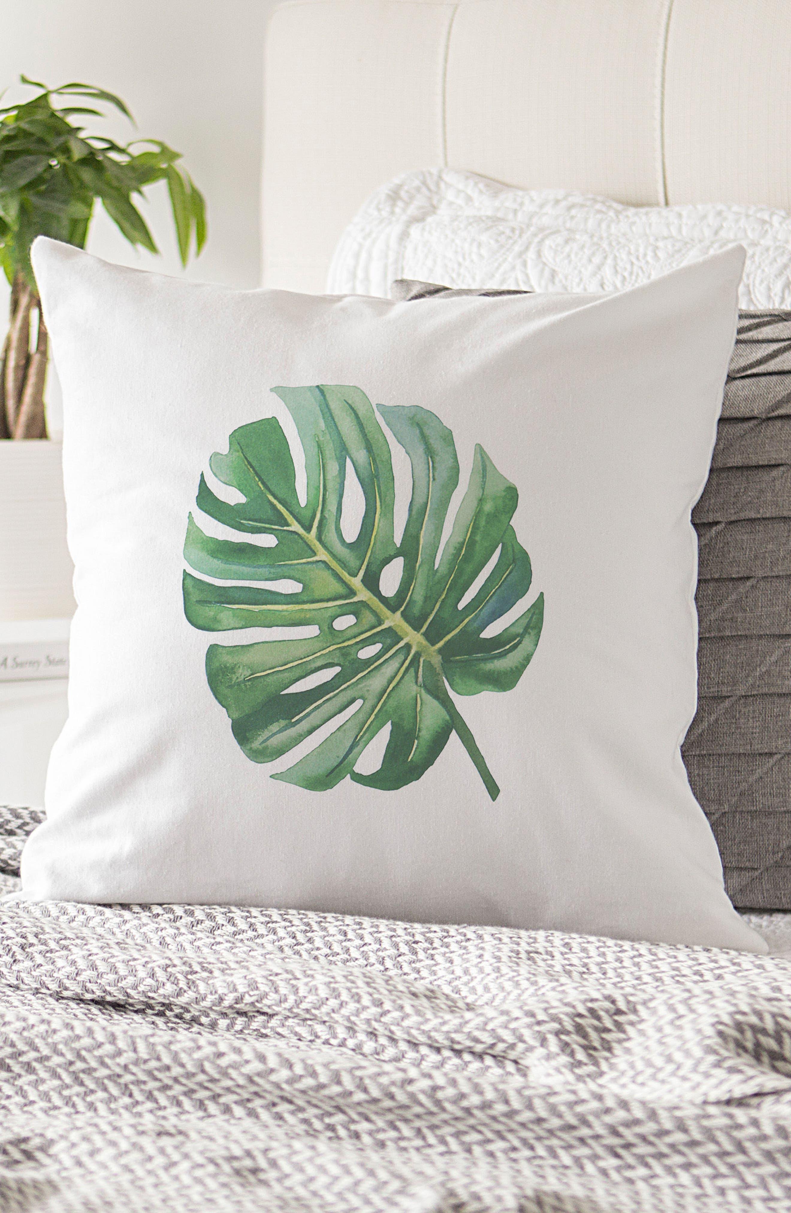 Palm Leaf Accent Pillow,                             Alternate thumbnail 4, color,                             300