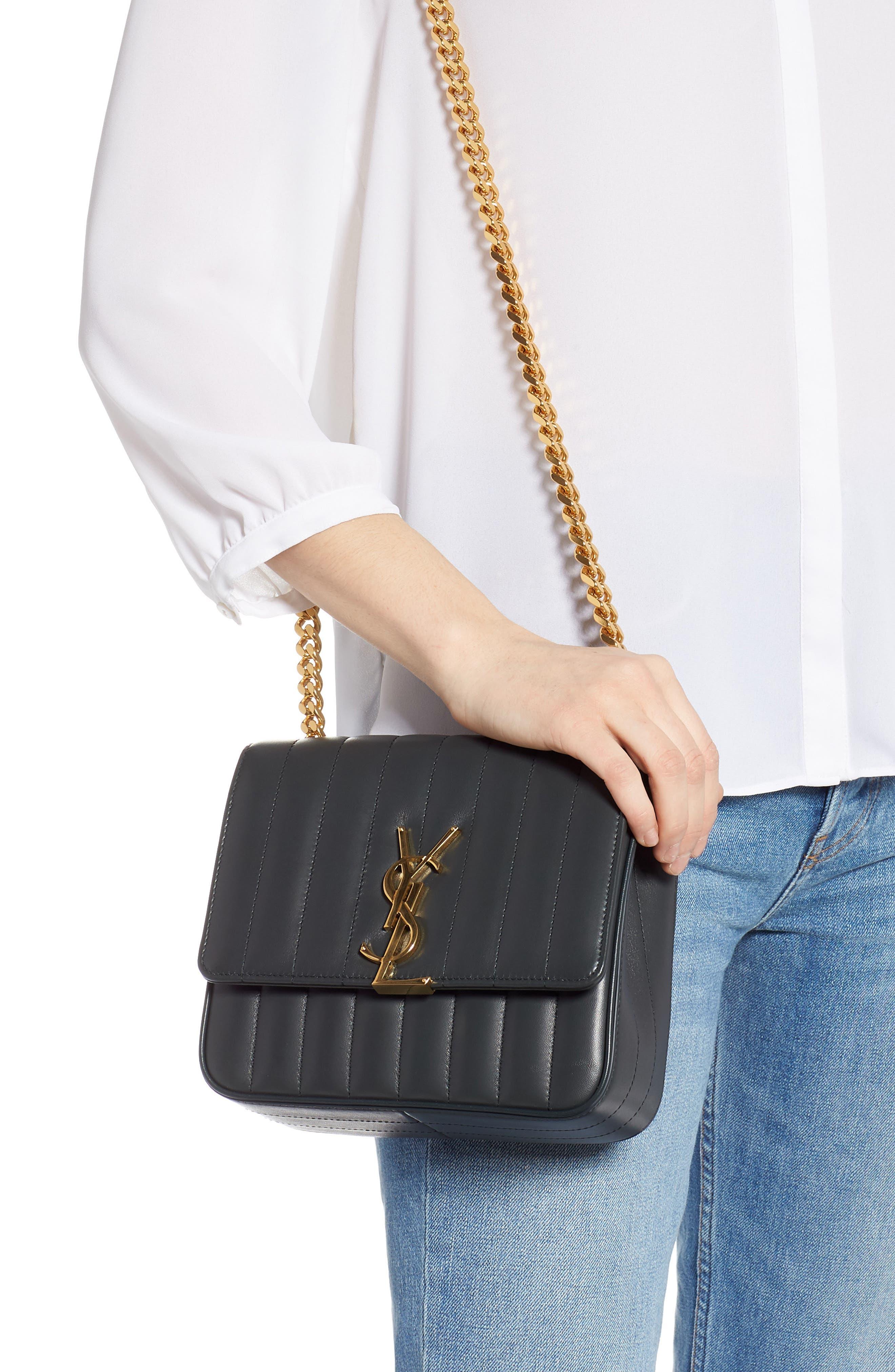 Medium Vicky Leather Crossbody Bag,                             Alternate thumbnail 2, color,                             ALGAE
