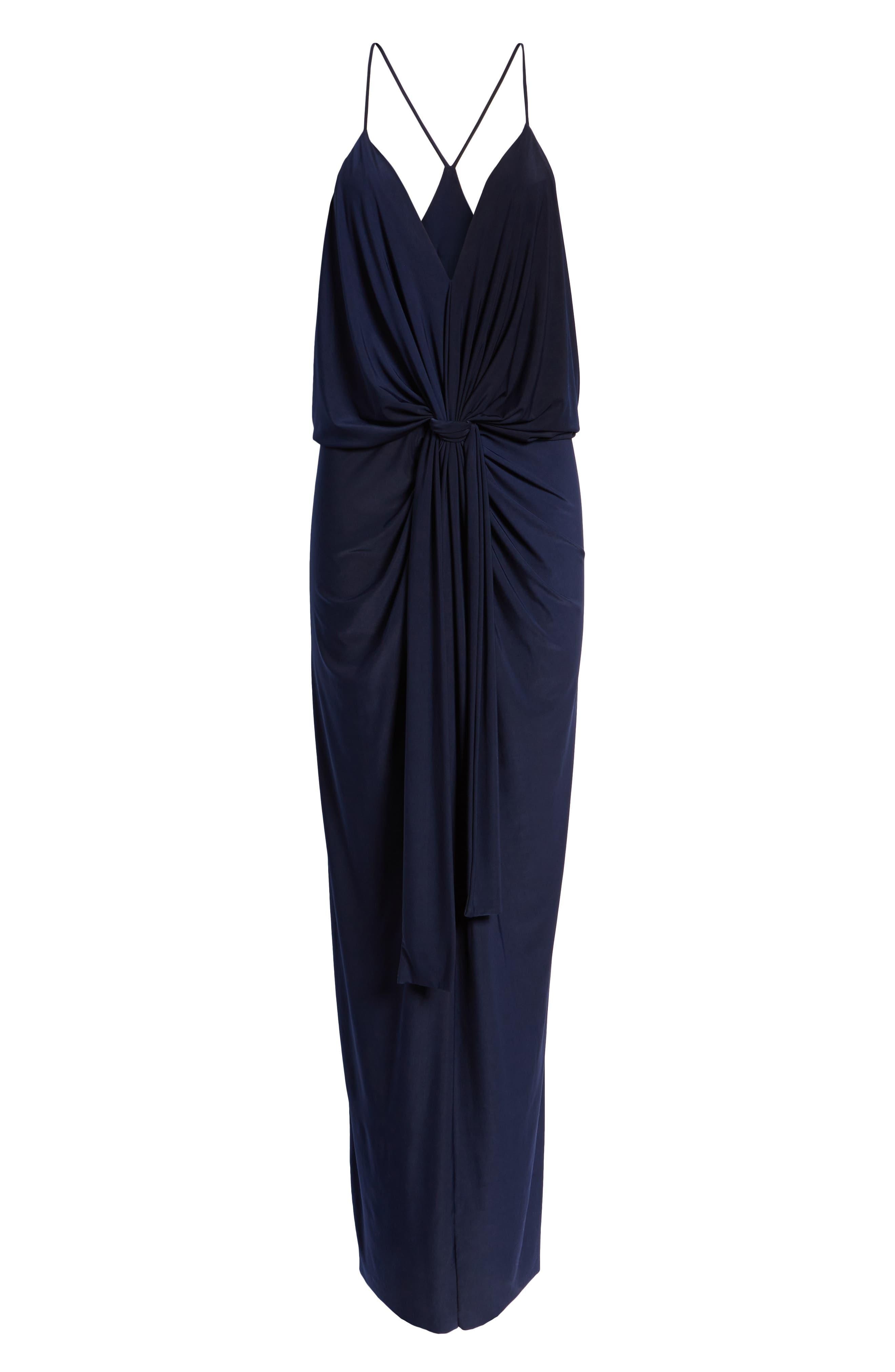 Domino Knot Maxi Dress,                             Alternate thumbnail 7, color,                             MIDNIGHT