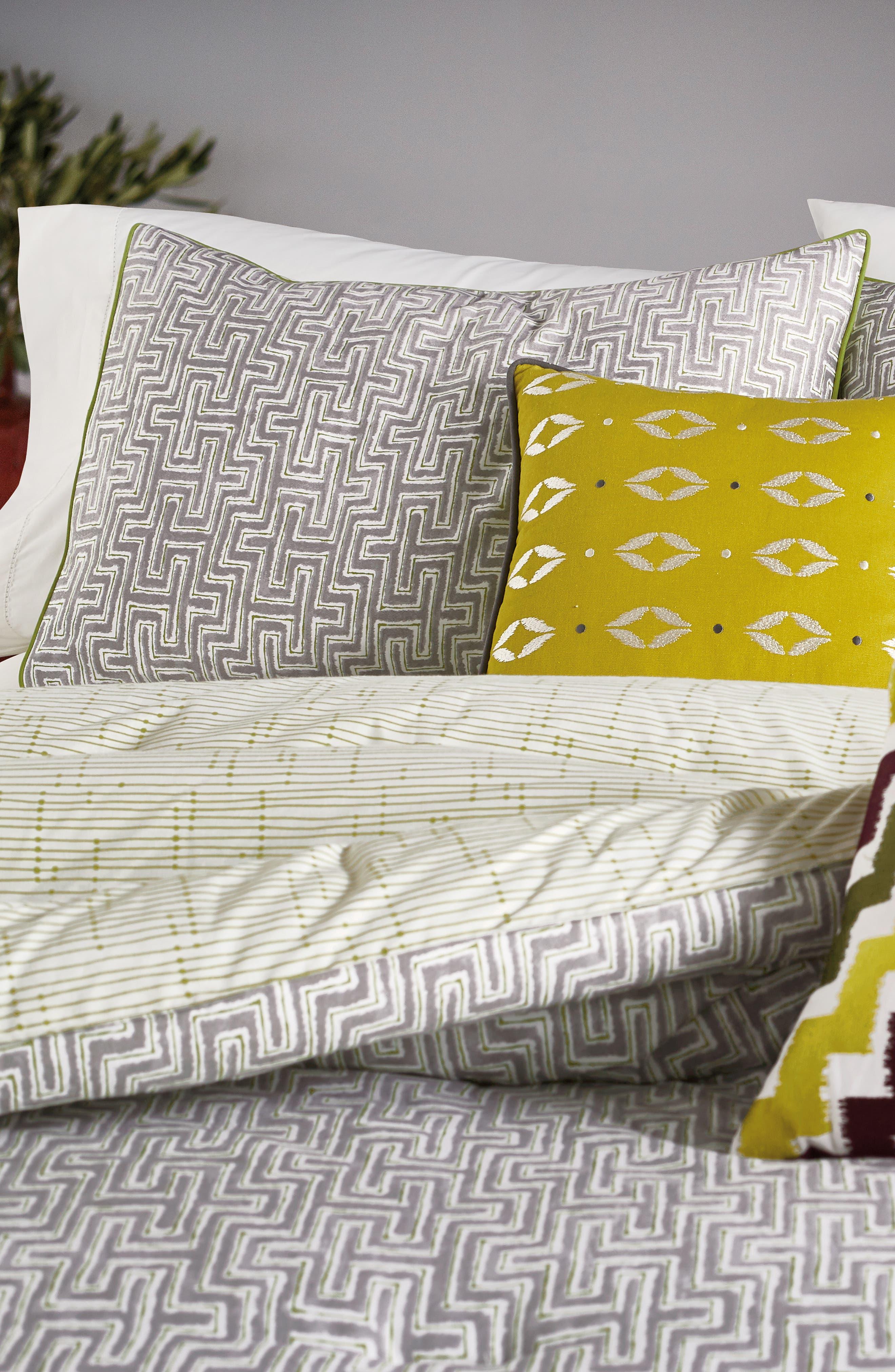BEDECK,                             Koba Comforter, Sham & Accent Pillow Set,                             Alternate thumbnail 3, color,                             LIGHT GREY